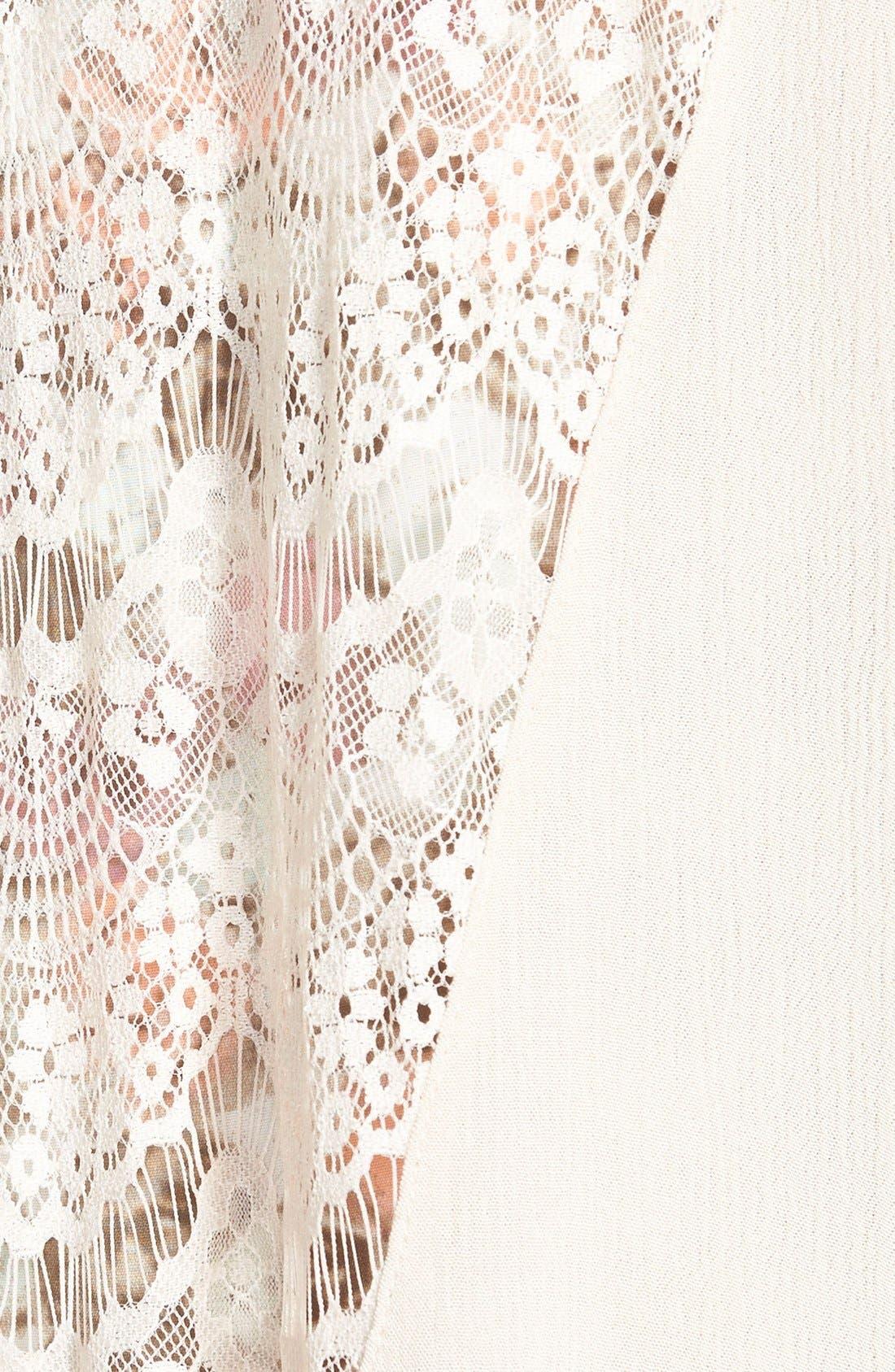 Alternate Image 3  - Elodie Crochet Back Kimono (Juniors)