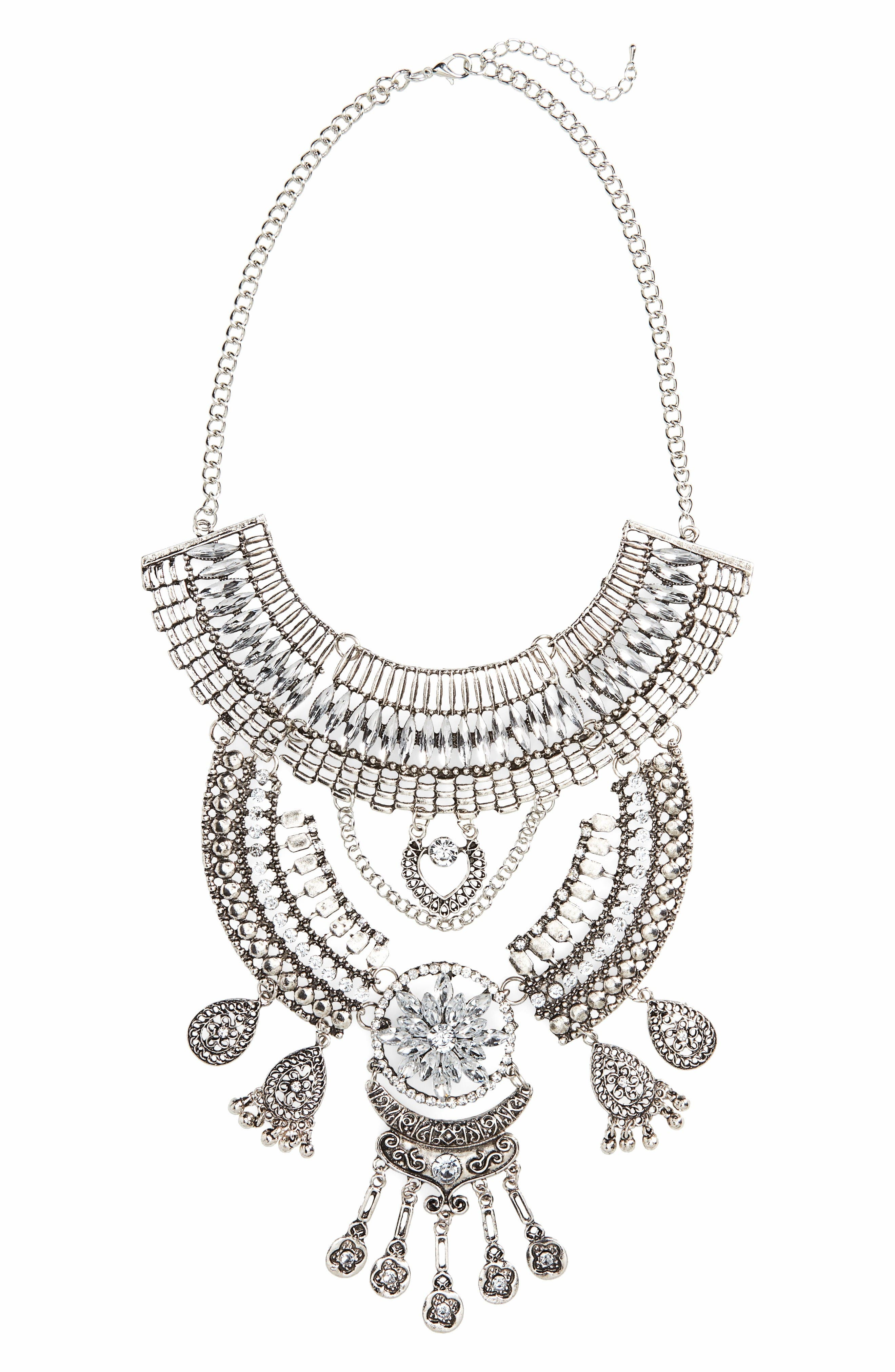 Alternate Image 1 Selected - Topshop Crystal Bib Necklace