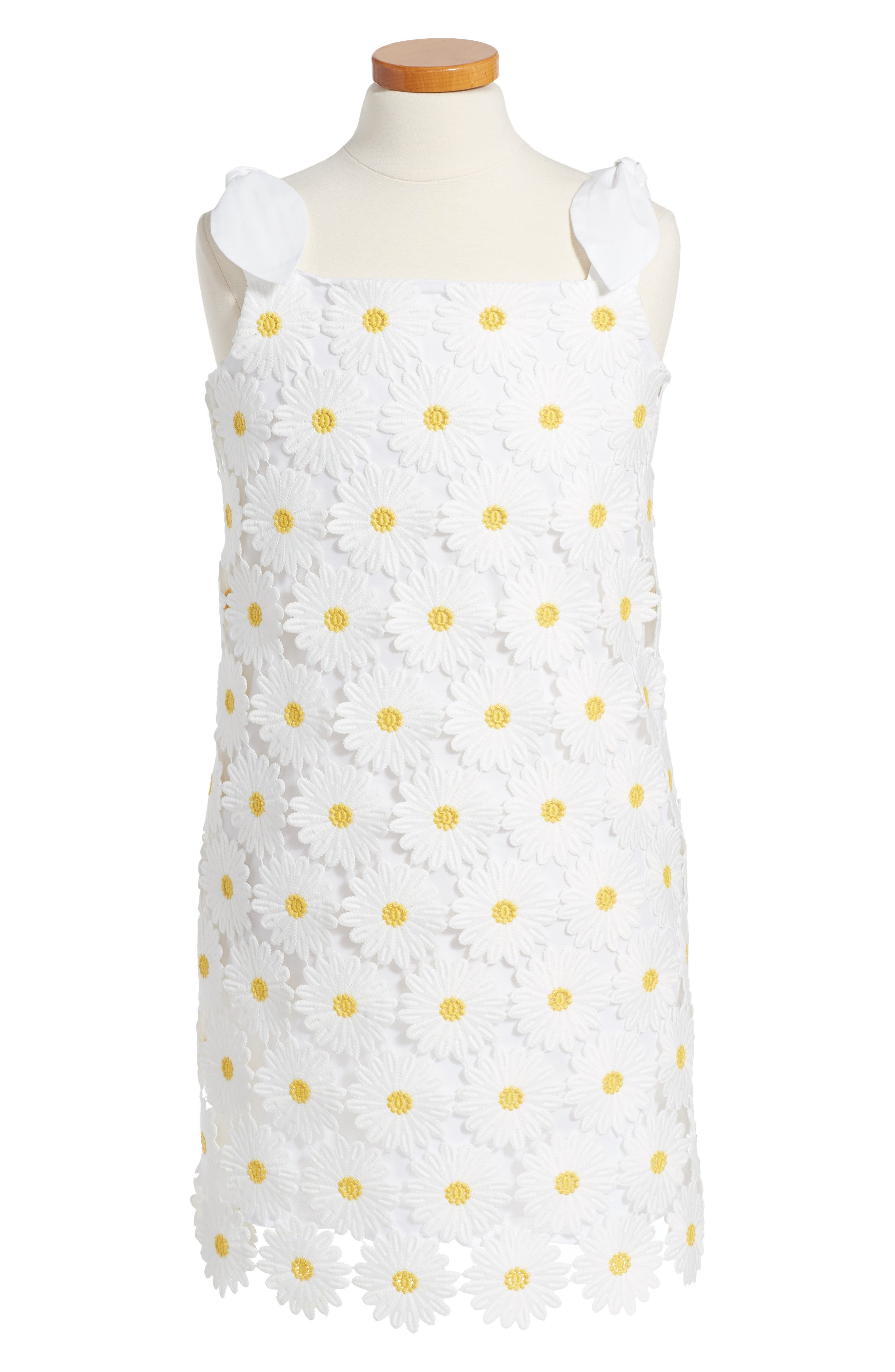 Milly Minis Daisy Embroidered Shift Dress (Toddler Girls, Little Girls & Big Girls)