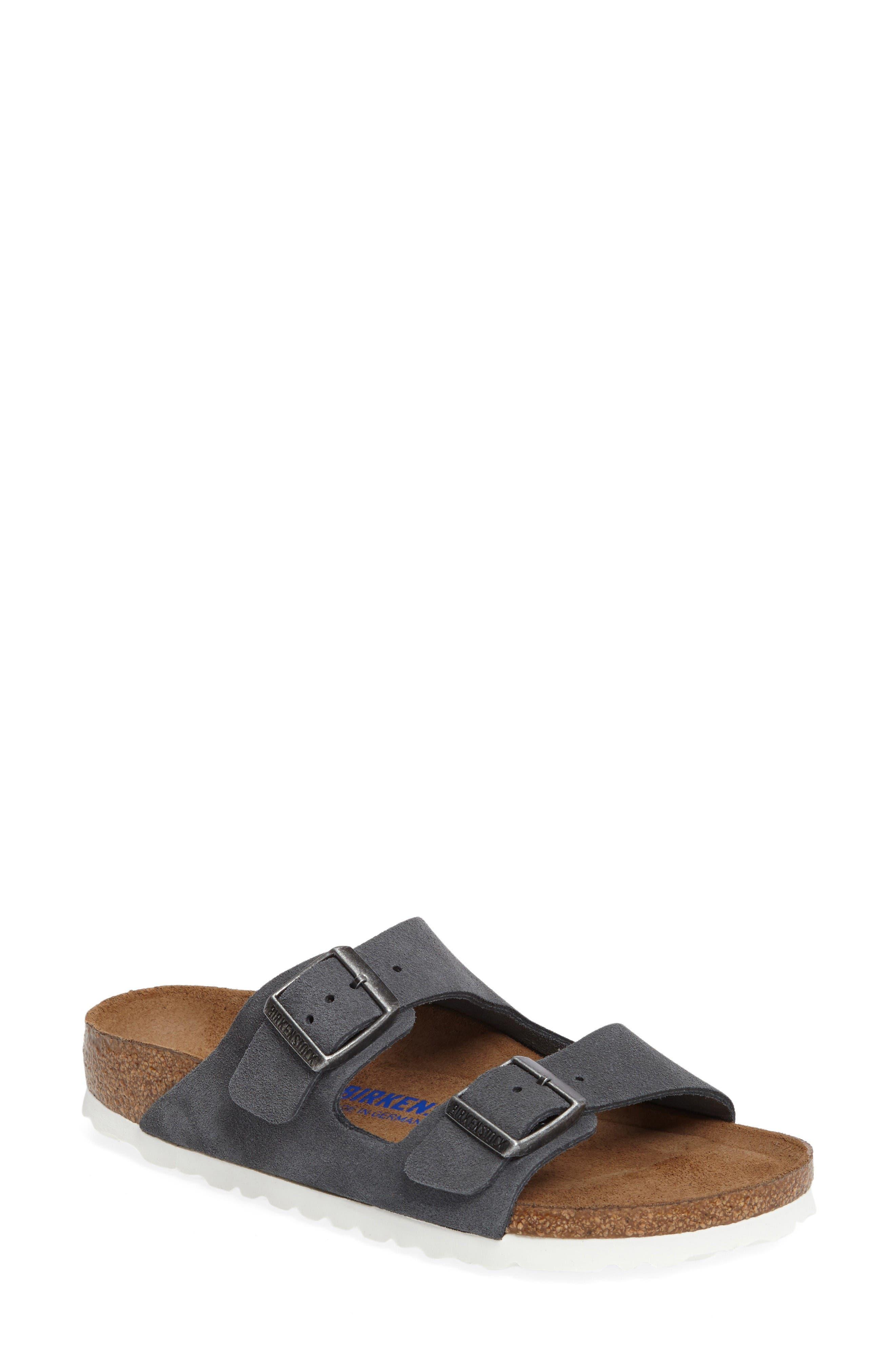 Alternate Image 1 Selected - Birkenstock Arizona Birko-Flor Soft Footbed Slide Sandal (Women)