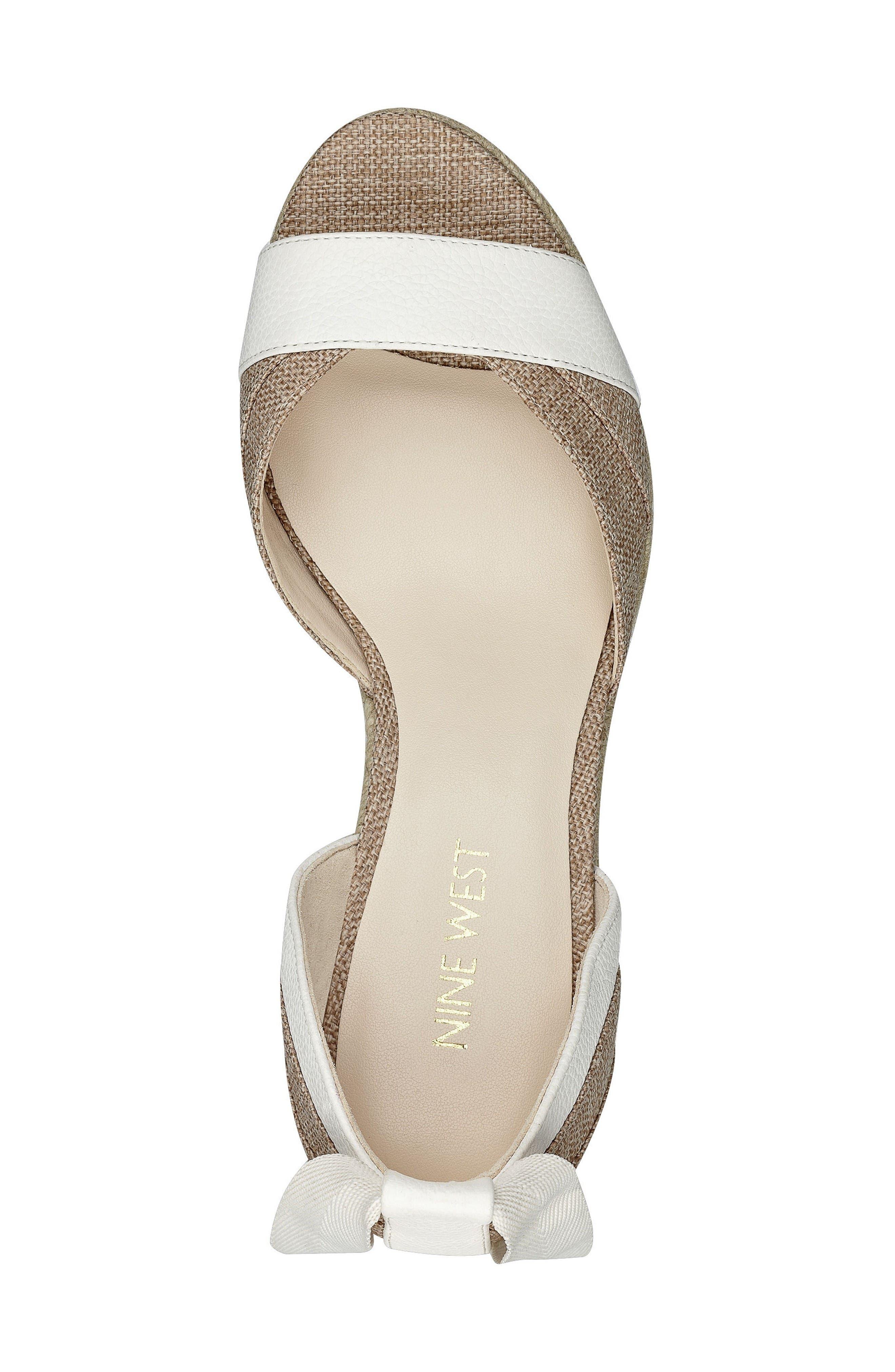 Alternate Image 4  - Nine West Jaxel Ankle Tie Wedge Sandal (Women)