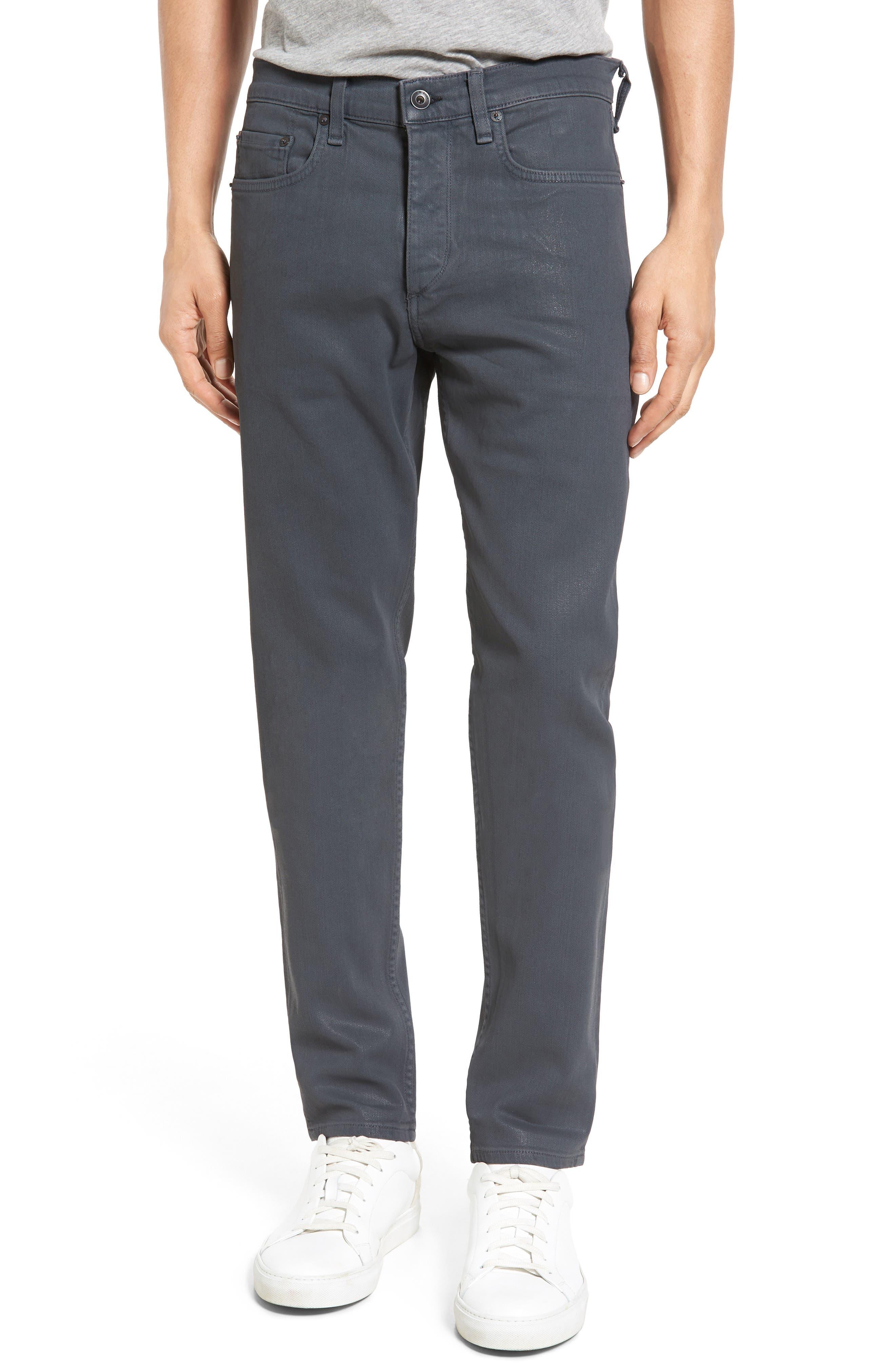 rag & bone Fit 2 Slim Fit Jeans (Coated Grey)