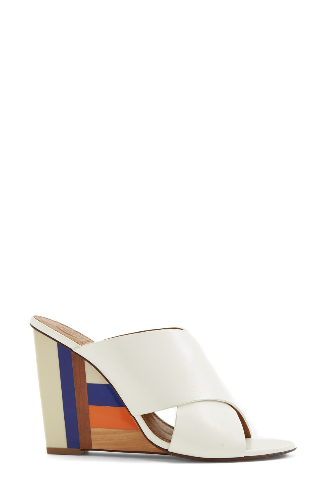 Alternate Image 3  - Tory Burch 'Cube' Leather Crossover Strap Wedge Sandal (Women)