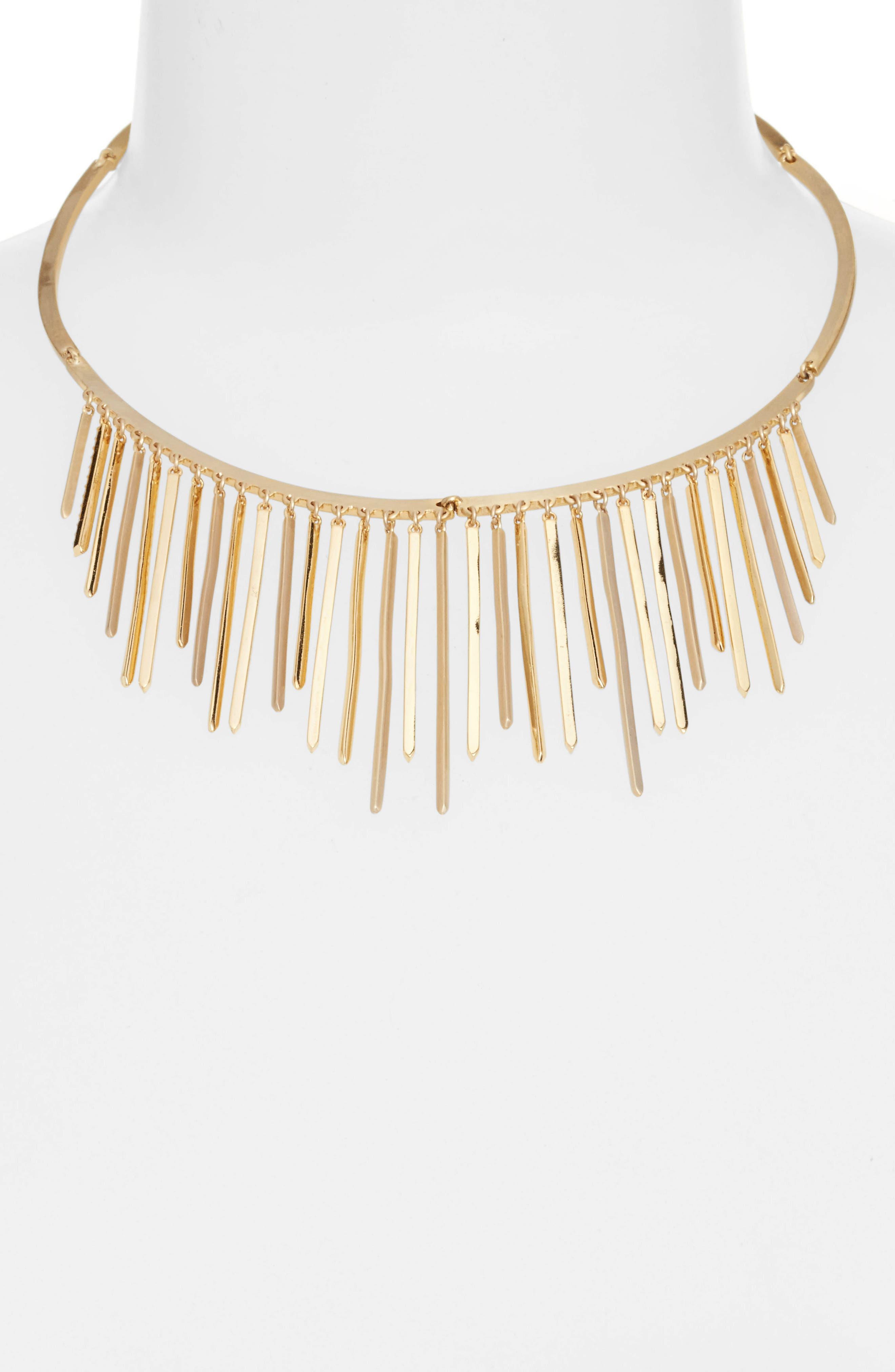Alternate Image 2  - Jenny Packham Fringe Frontal Necklace
