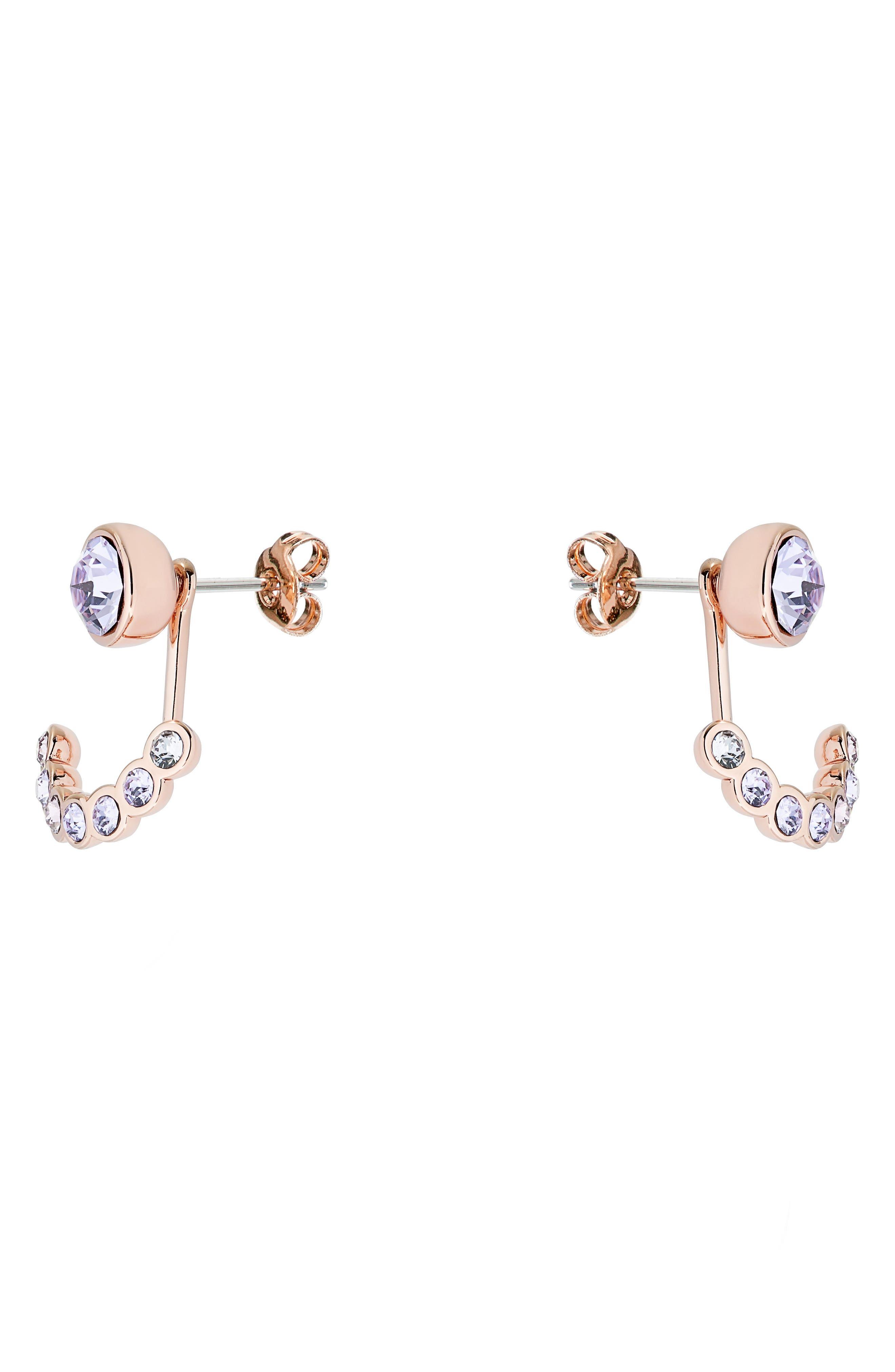 Alternate Image 2  - Ted Baker London Concentric Swarovski Crystal Ear Jackets