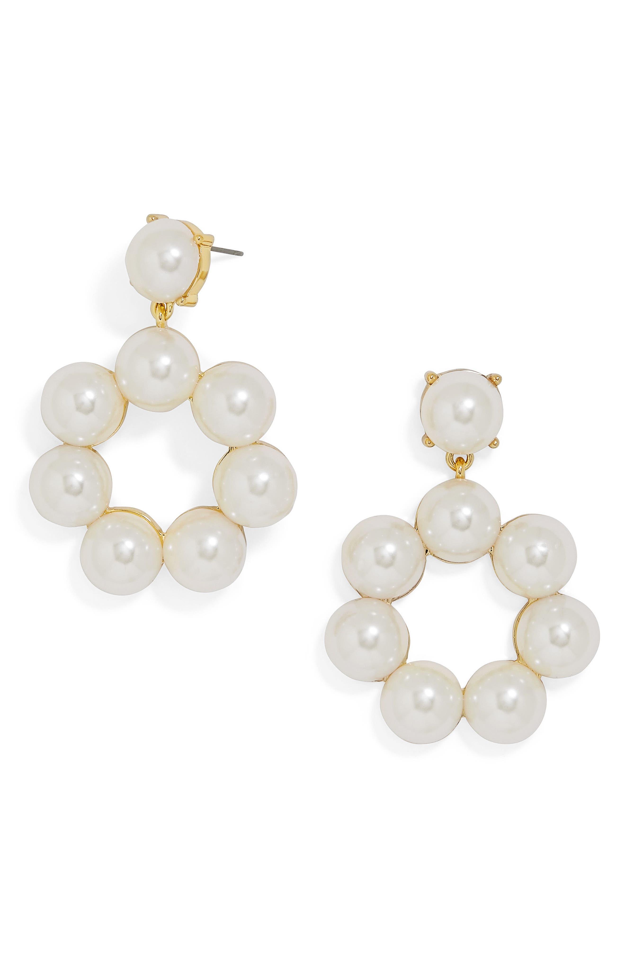 Main Image - BaubleBar Aleeza Imitation Pearl Drop Earrings