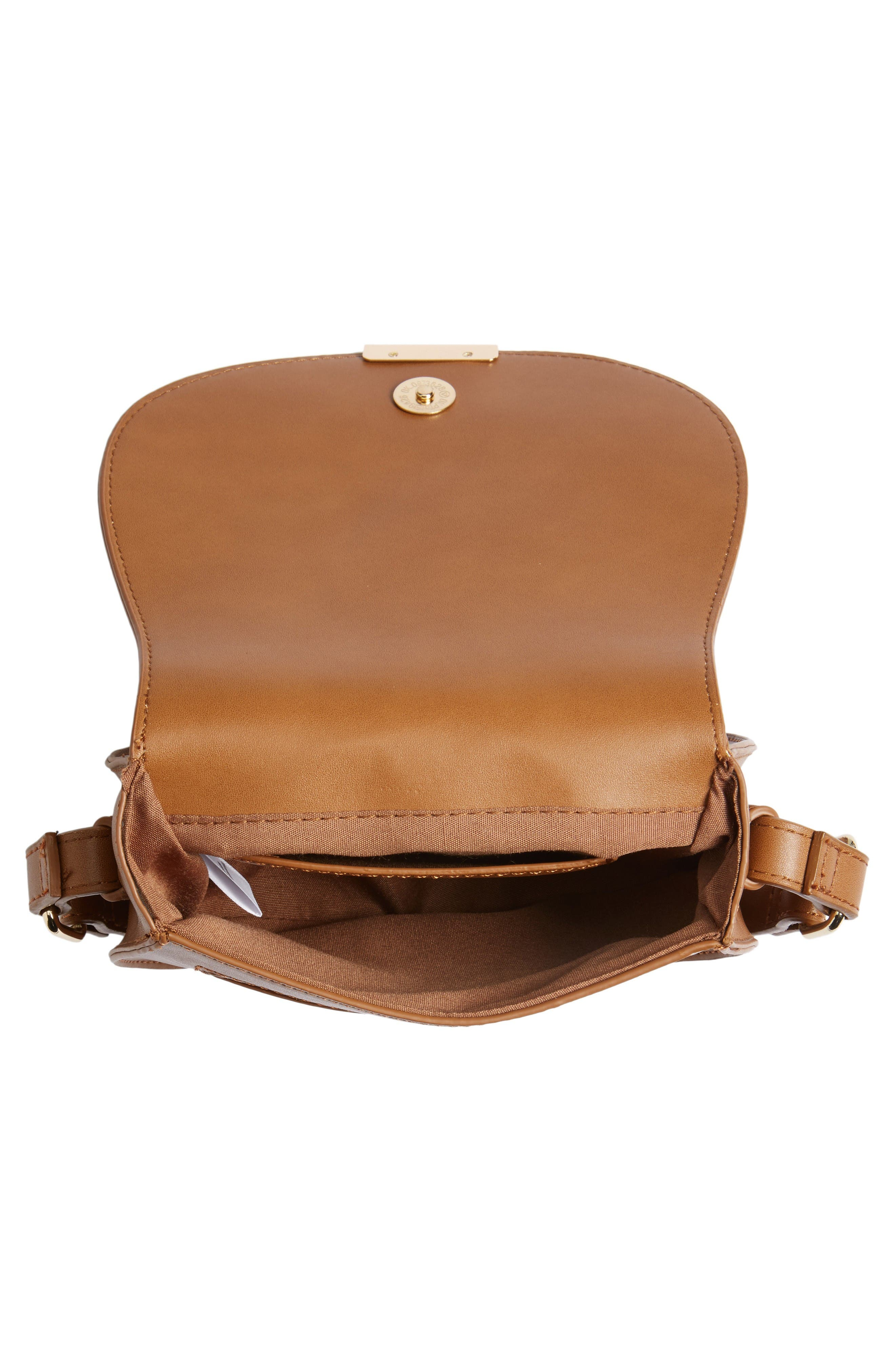 Alternate Image 4  - BP. Faux Leather Small Saddle Crossbody Bag