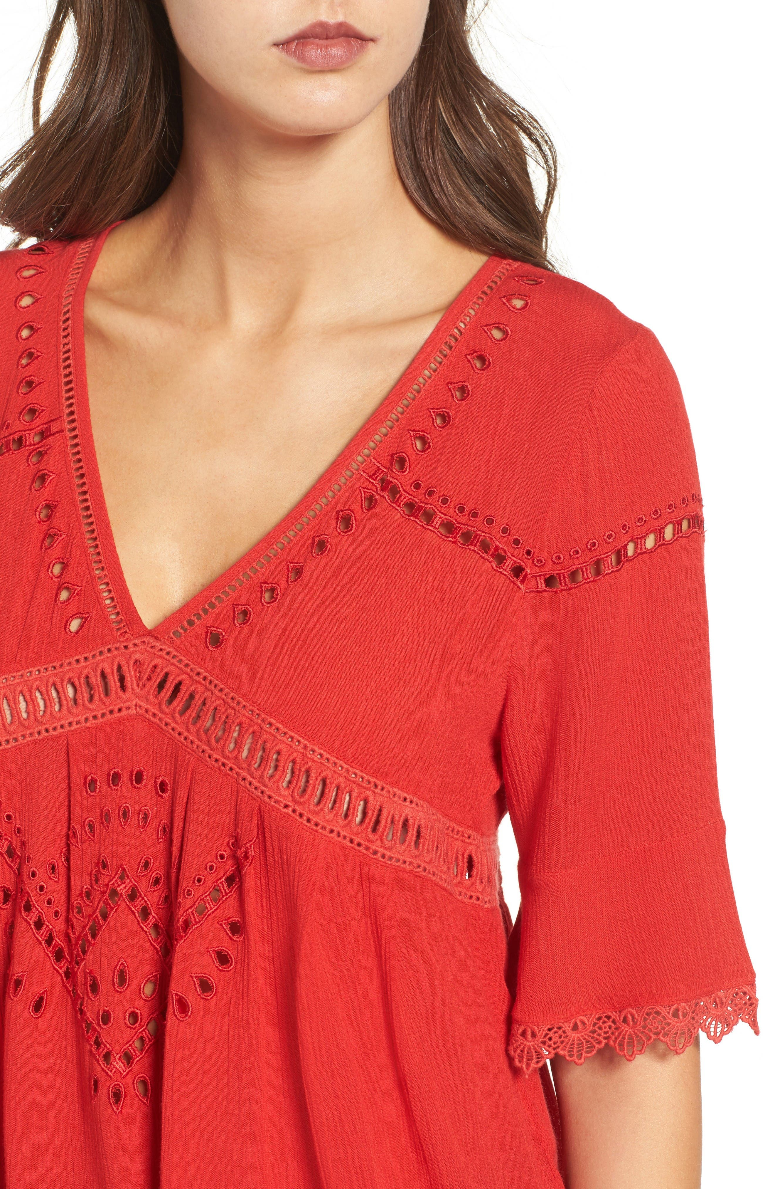 Alternate Image 5  - Ella Moss Broderie Anglaise Top