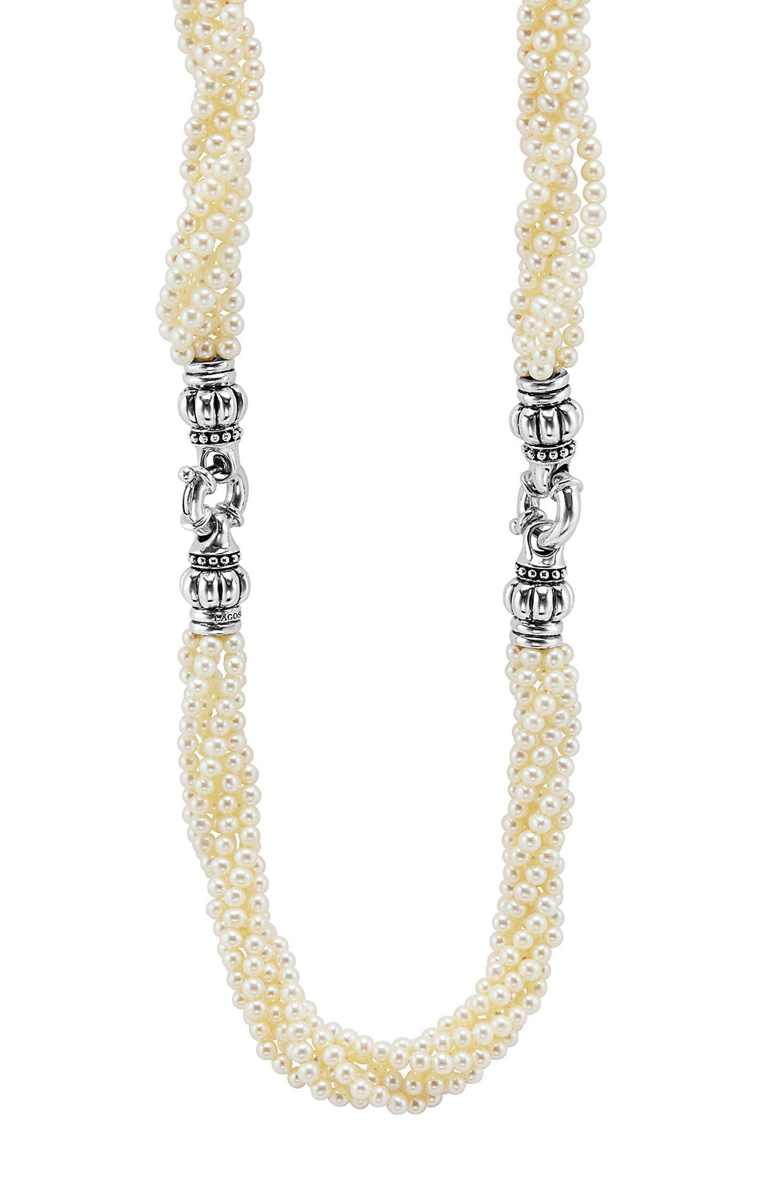LAGOS Luna Pearl Convertible Bracelet & Necklace