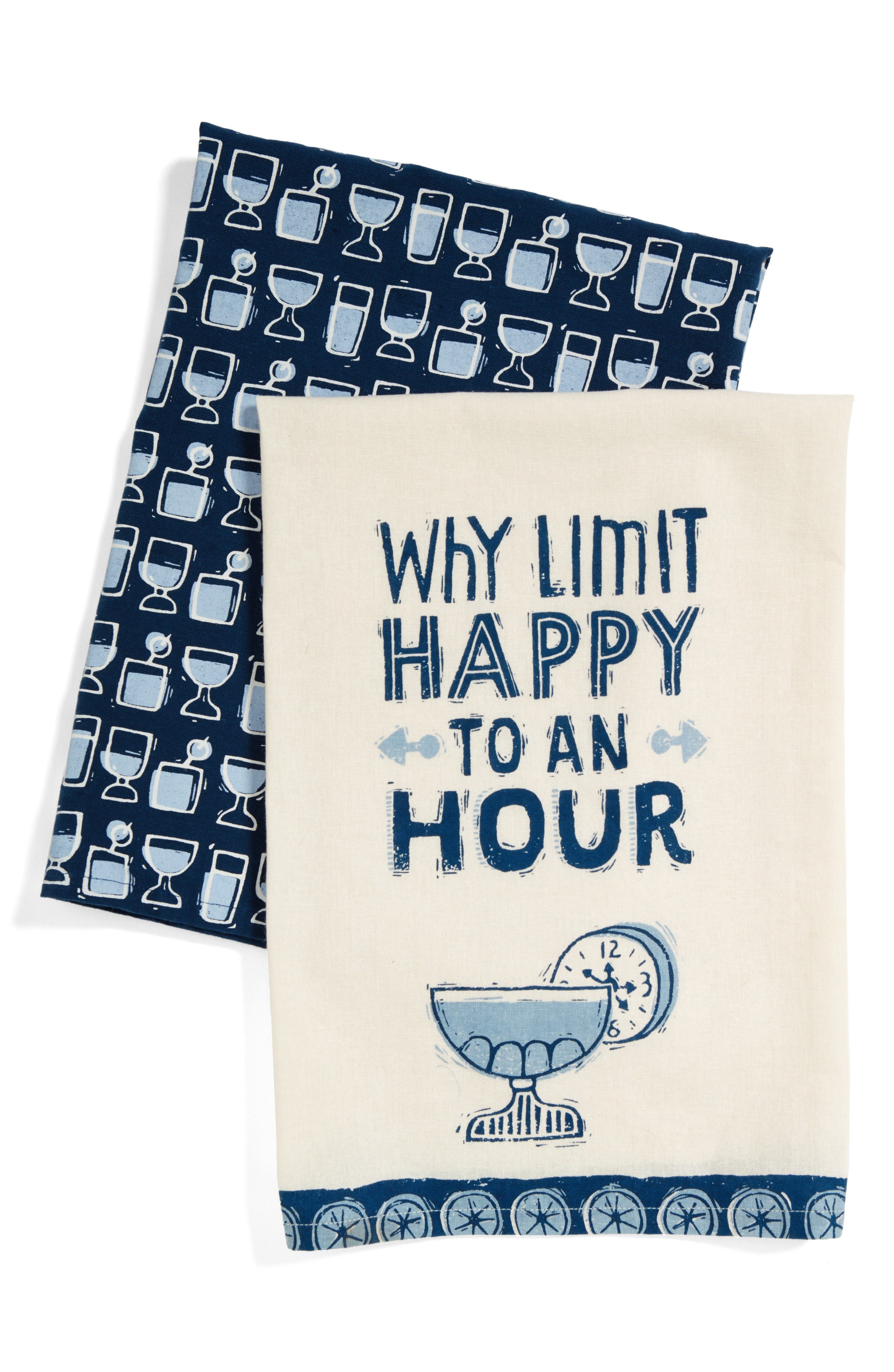 Alternate Image 1 Selected - Primitves by Kathy Happy Hour Set of 2 Dish Towels