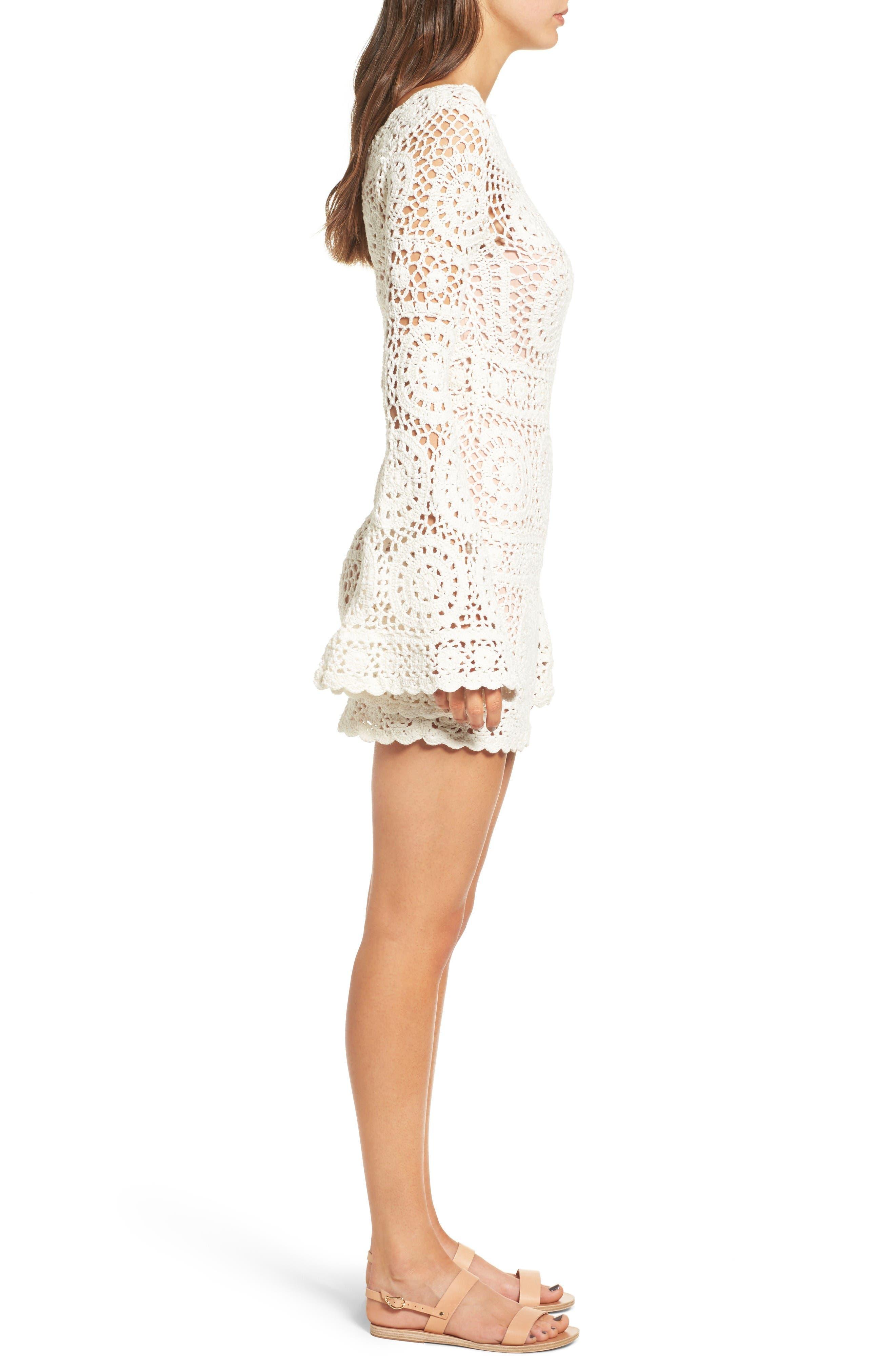 Alternate Image 3  - Majorelle Harvest Crochet Minidress