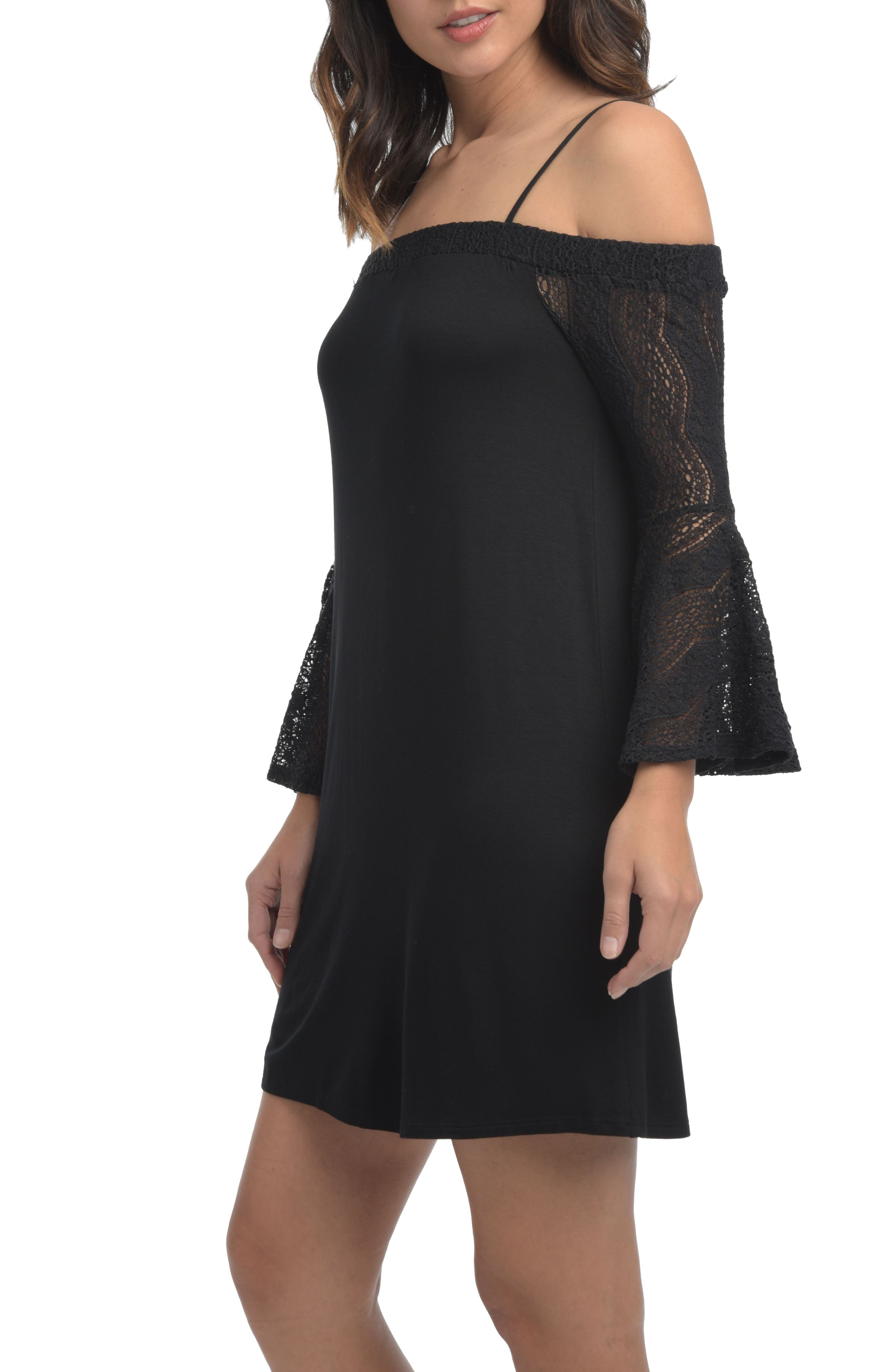 Alternate Image 3  - Ella Moss Annalia Lace Cold Shoulder Dress