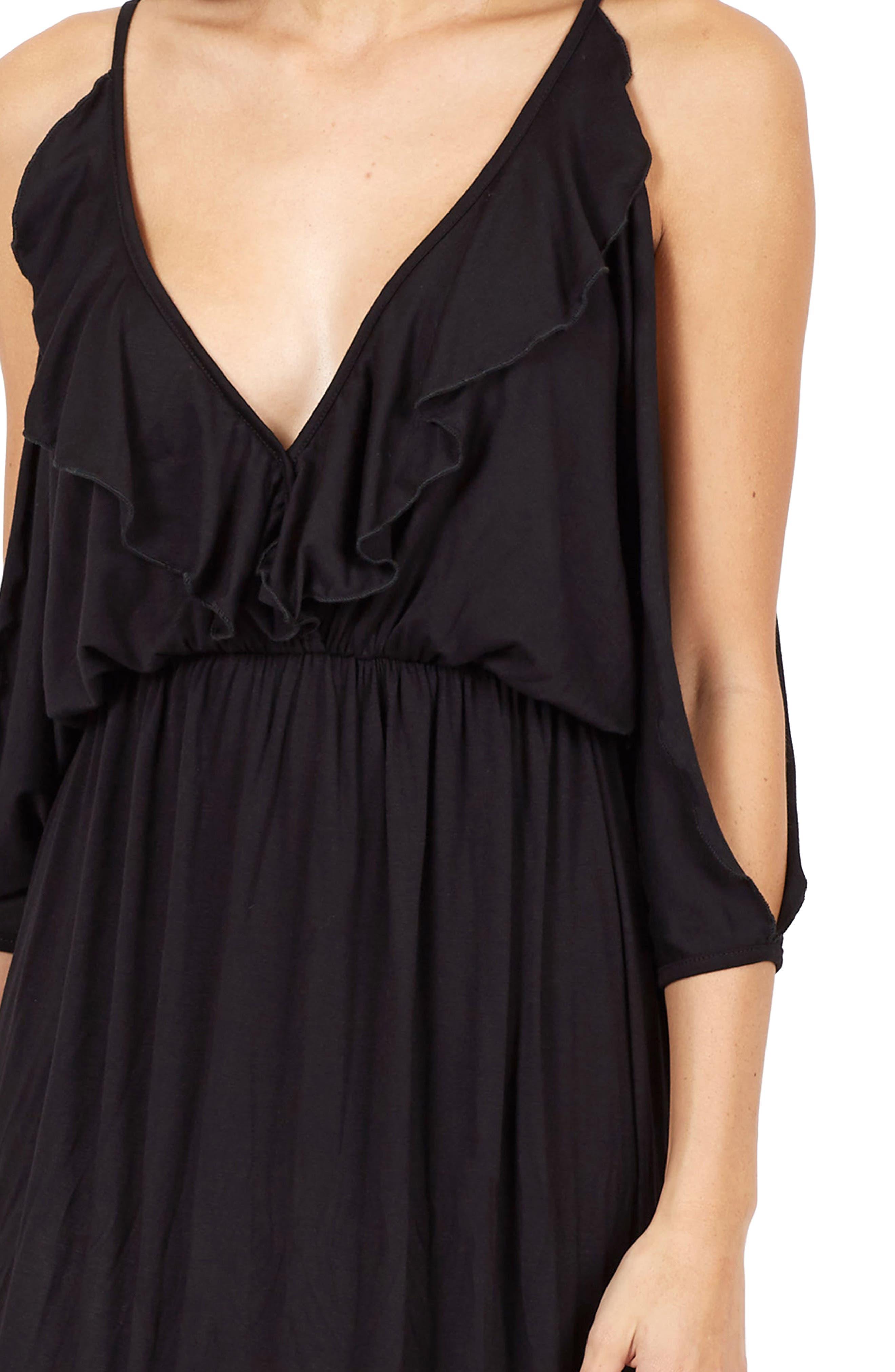 Alternate Image 4  - Delacy Nia Cold Shoulder Maxi Dress