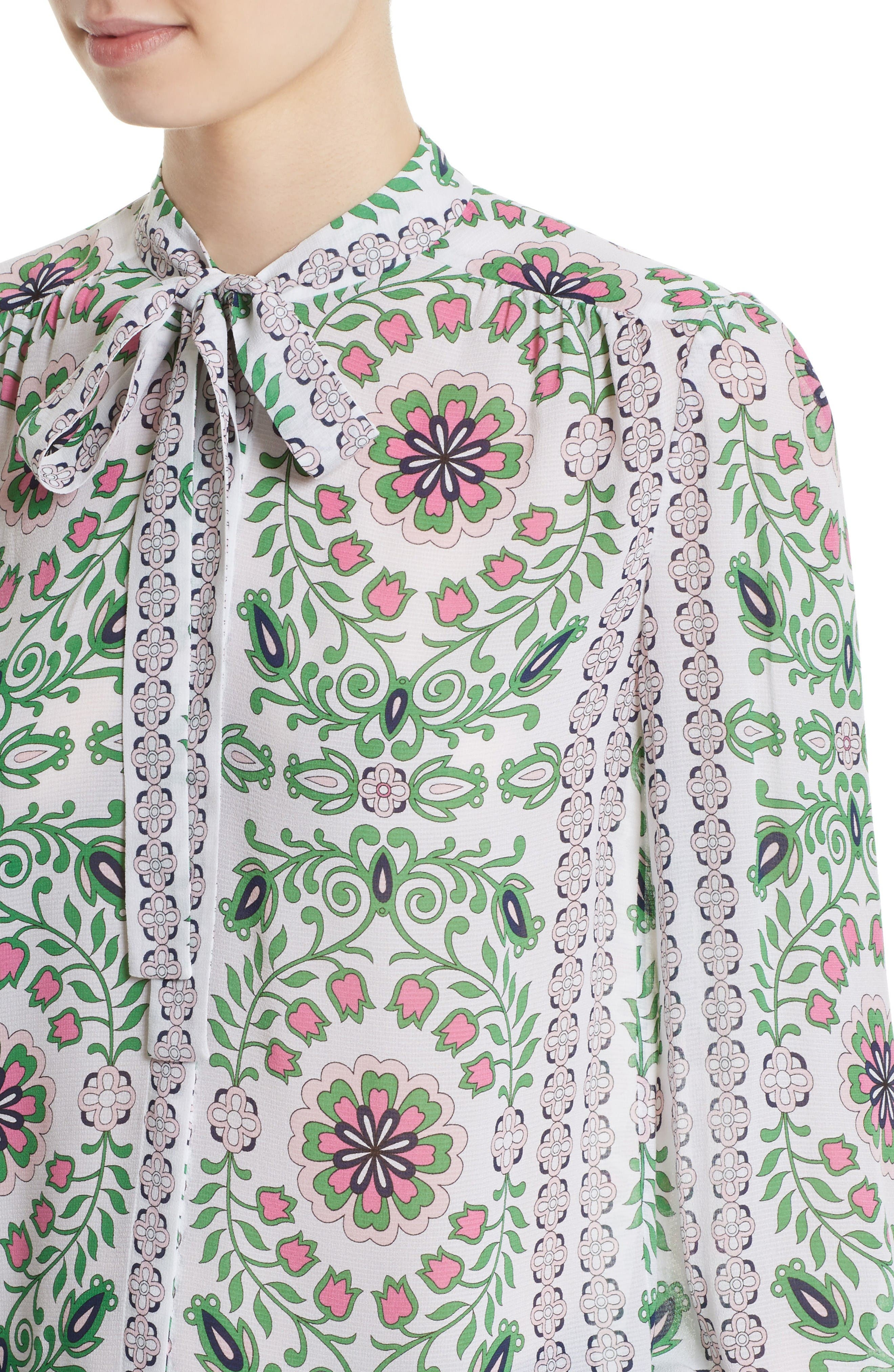 Alternate Image 4  - Tory Burch Kia Print Silk Blouse