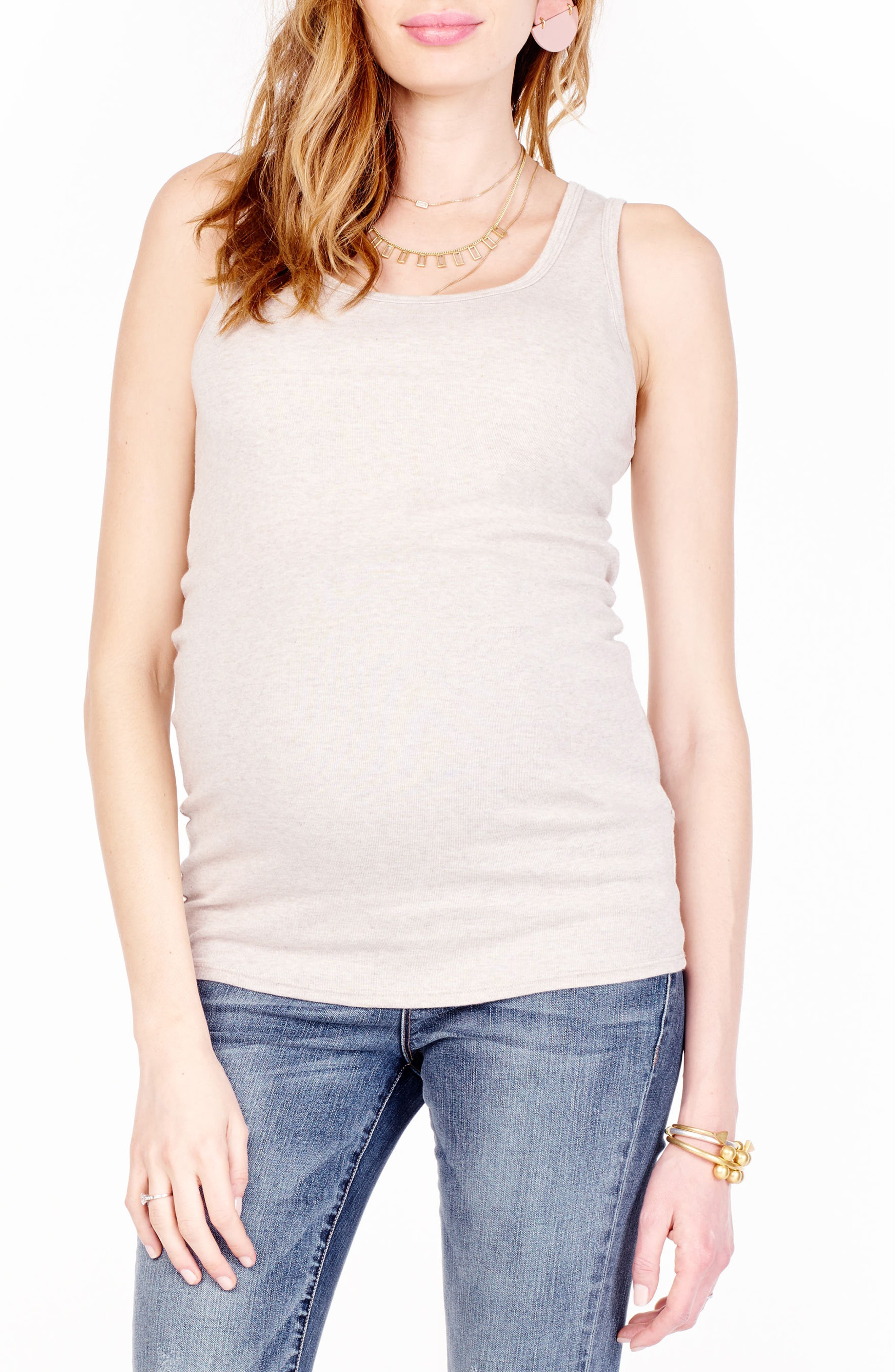 Ingrid & Isabel Scoop Neck Maternity Tank