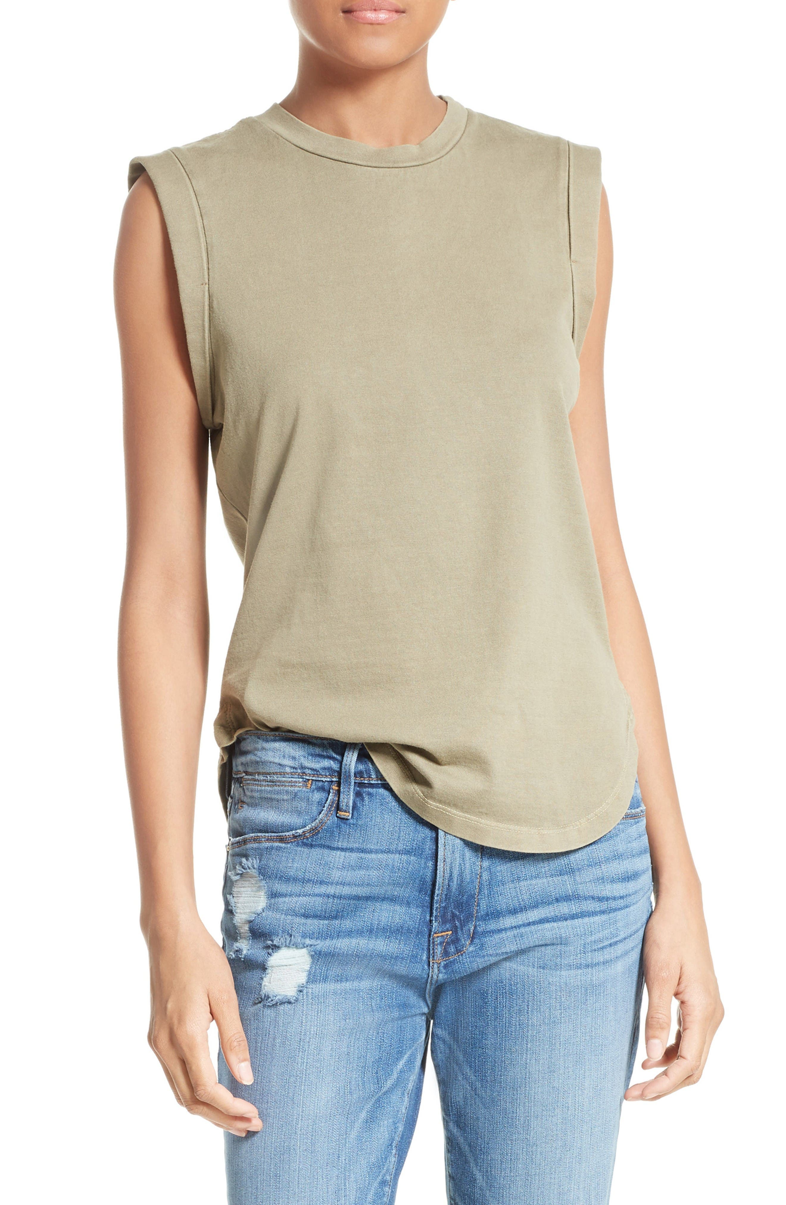 FRAME Cotton Muscle Tank (Nordstrom Exclusive)