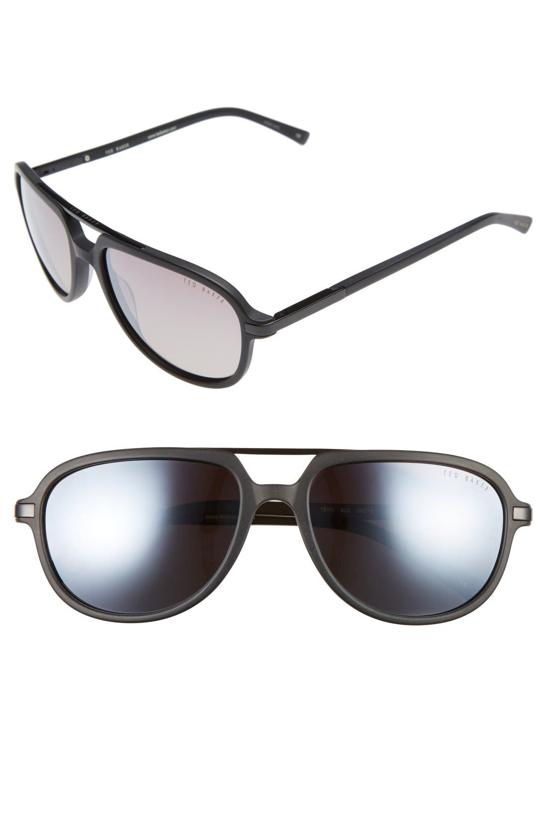 Ted Baker London 59mm Polarized Aviator Sunglasses