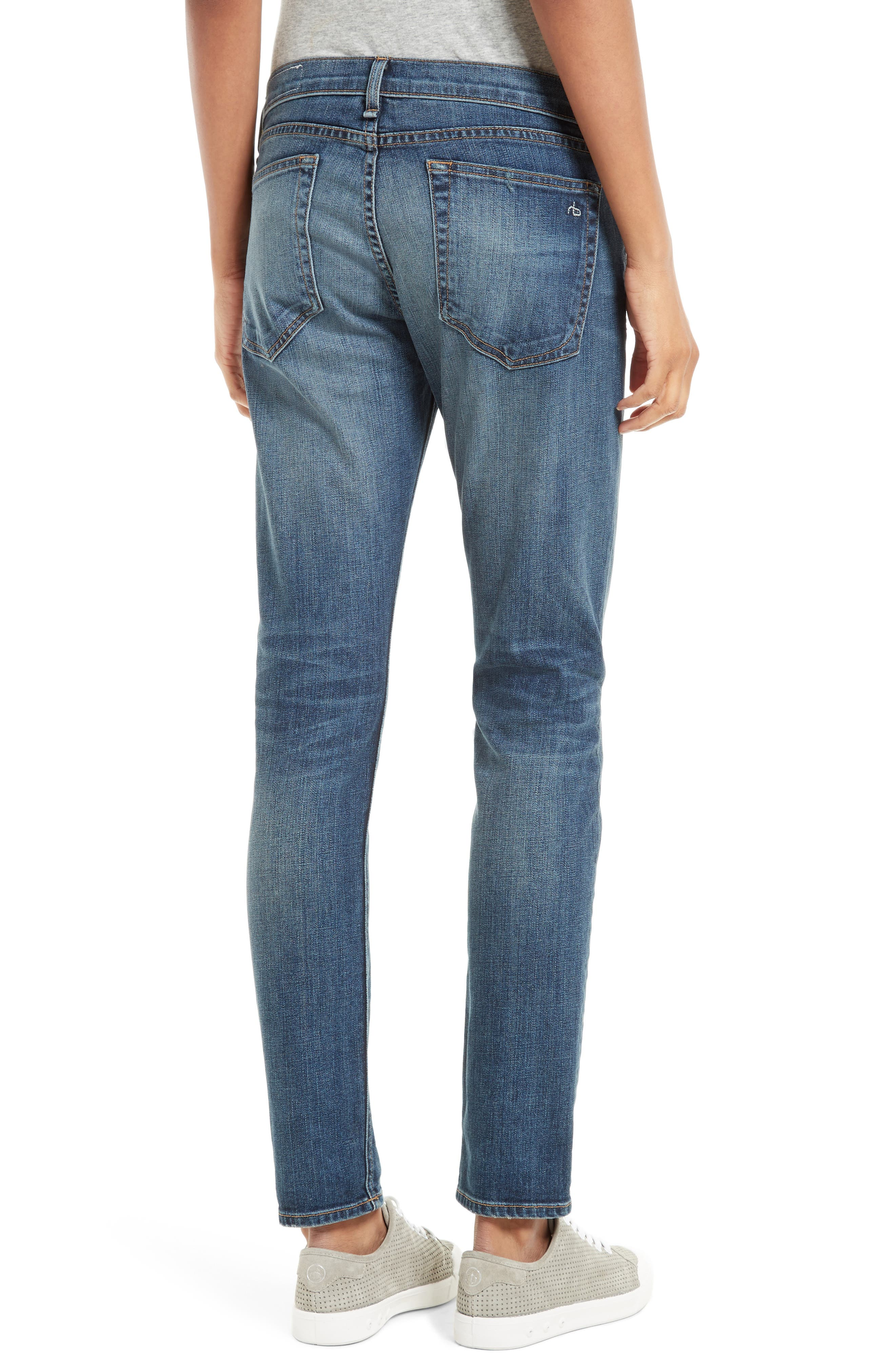 Alternate Image 2  - rag & bone/JEAN The Dre Slim Boyfriend Jeans (Bard)
