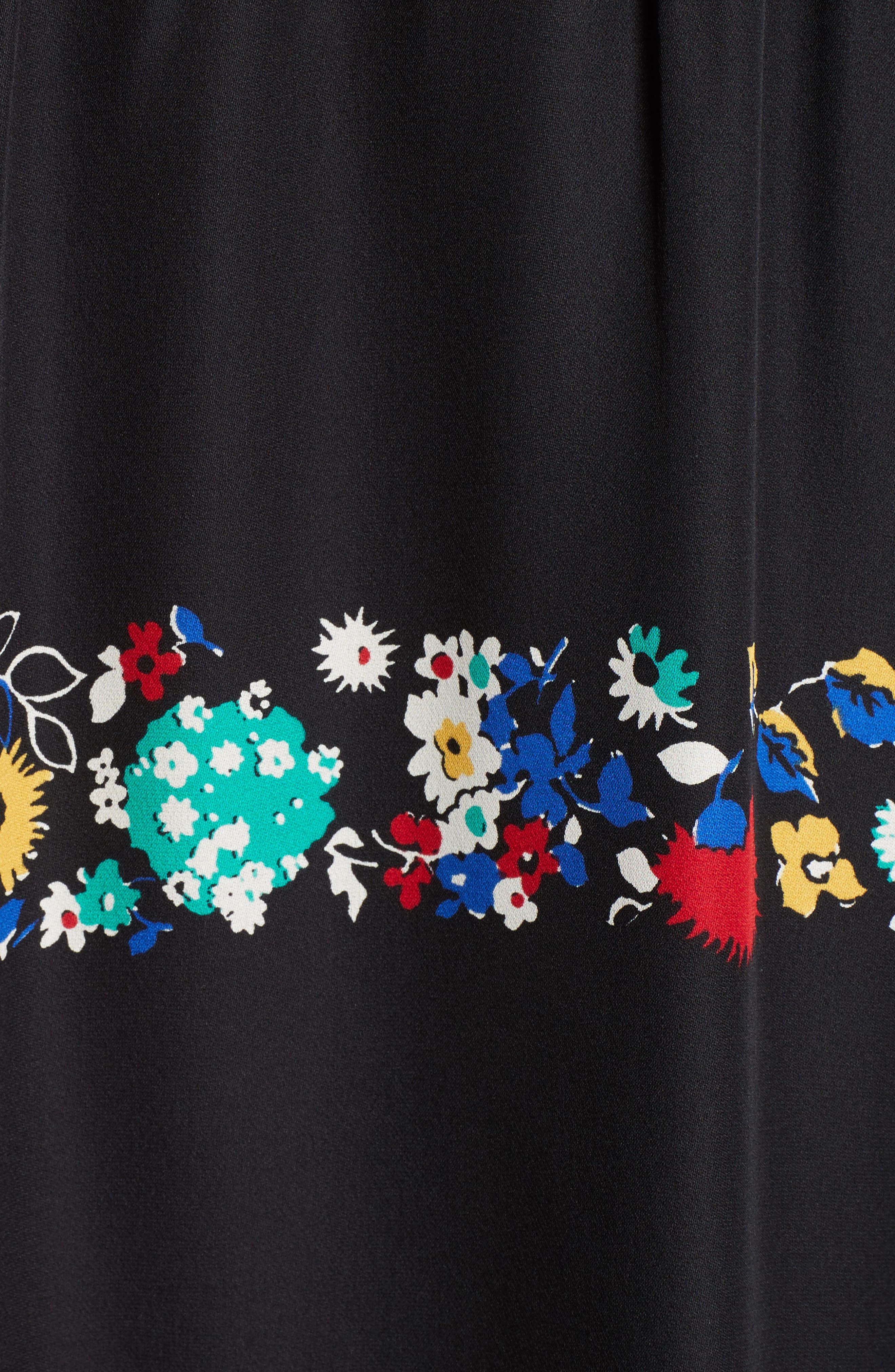 Alternate Image 5  - Derek Lam 10 Crosby Floral Stripe Ruffle Silk Dress