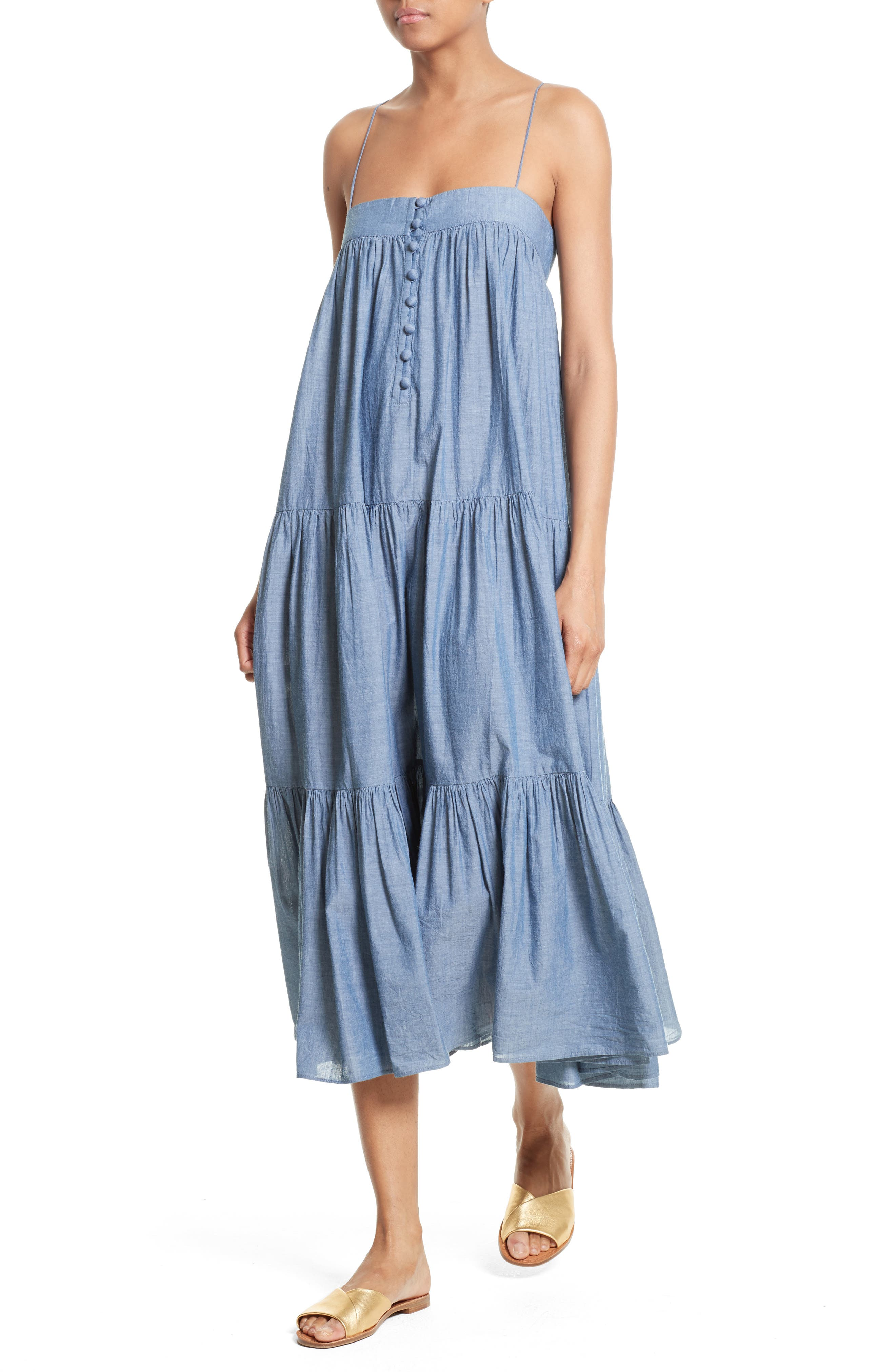 Alternate Image 4  - Apiece Apart Tangiers Chambray Dress