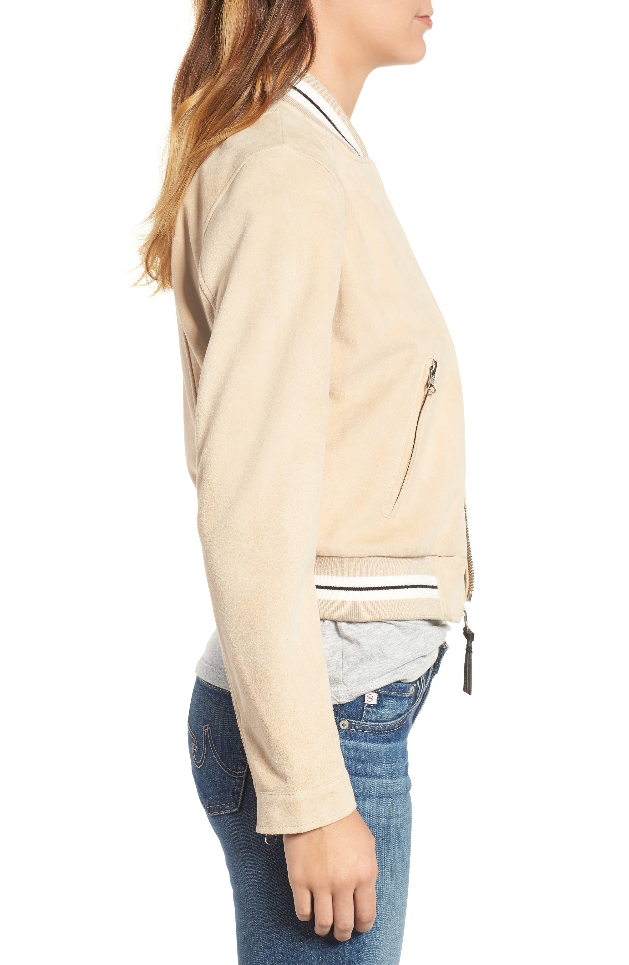 Alternate Image 3  - Derek Lam 10 Crosby Suede Varsity Jacket