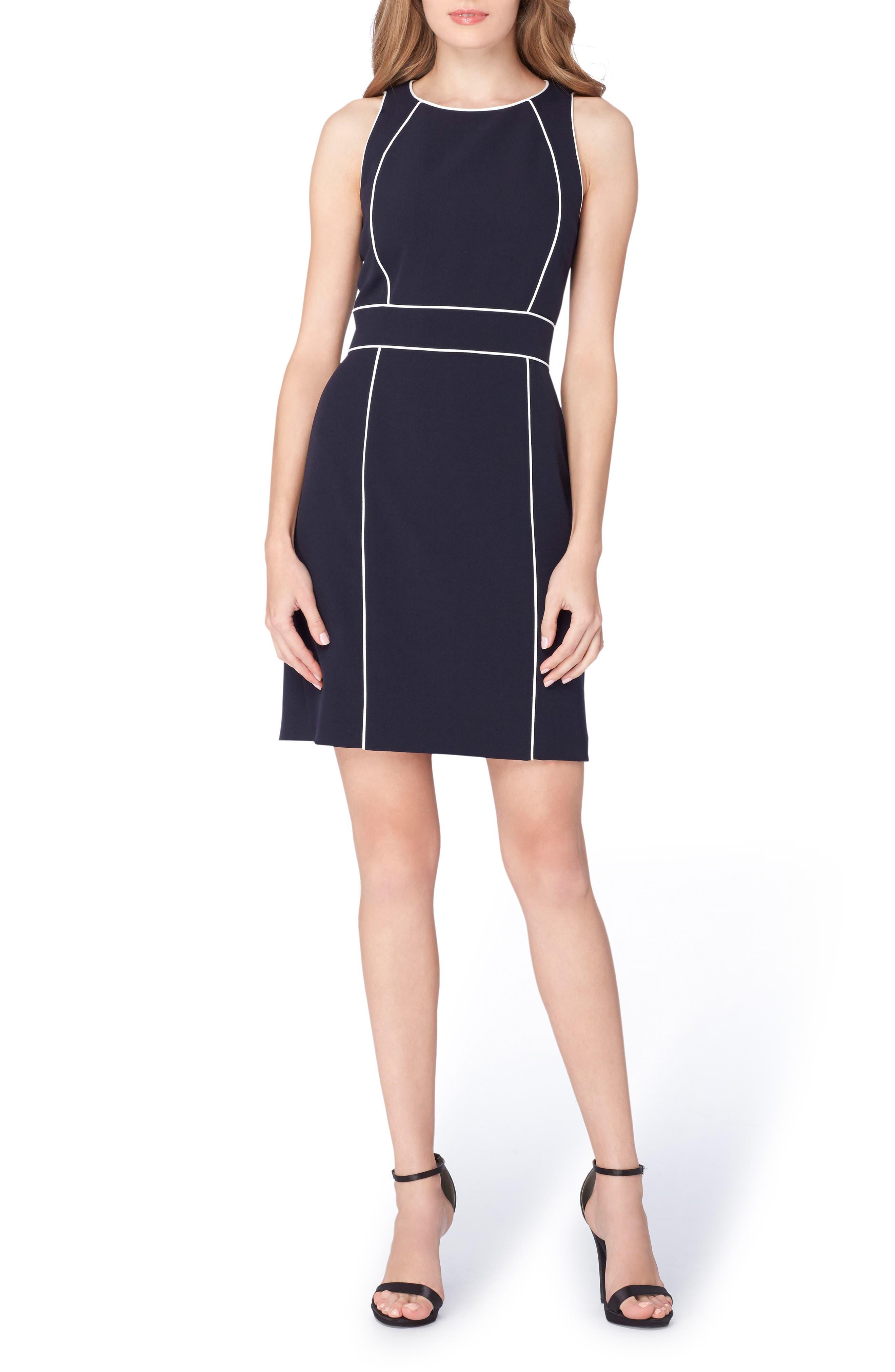 Alternate Image 1 Selected - Tahari Colorblock Sheath Dress (Regular & Petite)