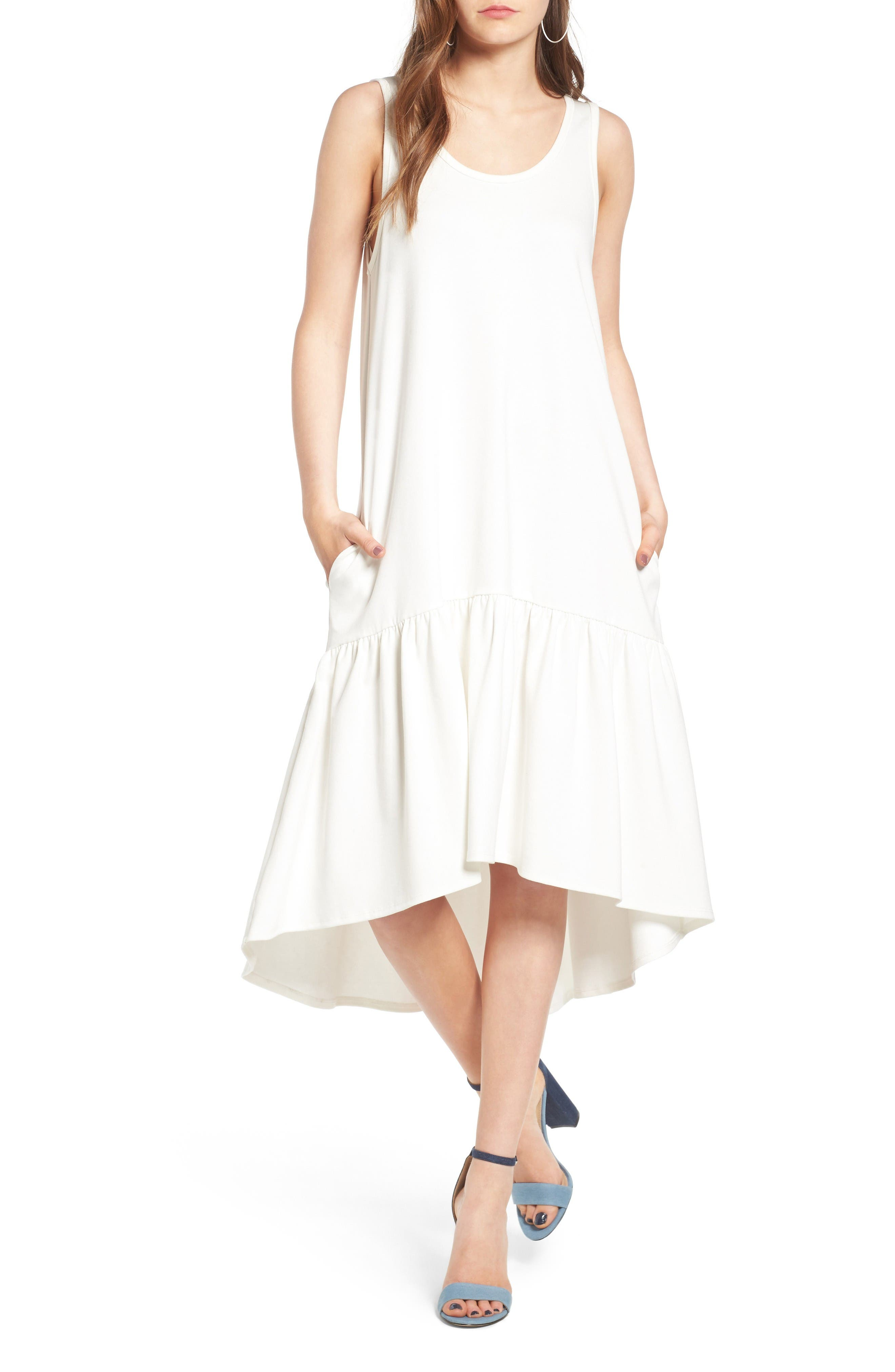 Main Image - Leith Flounce Midi Dress