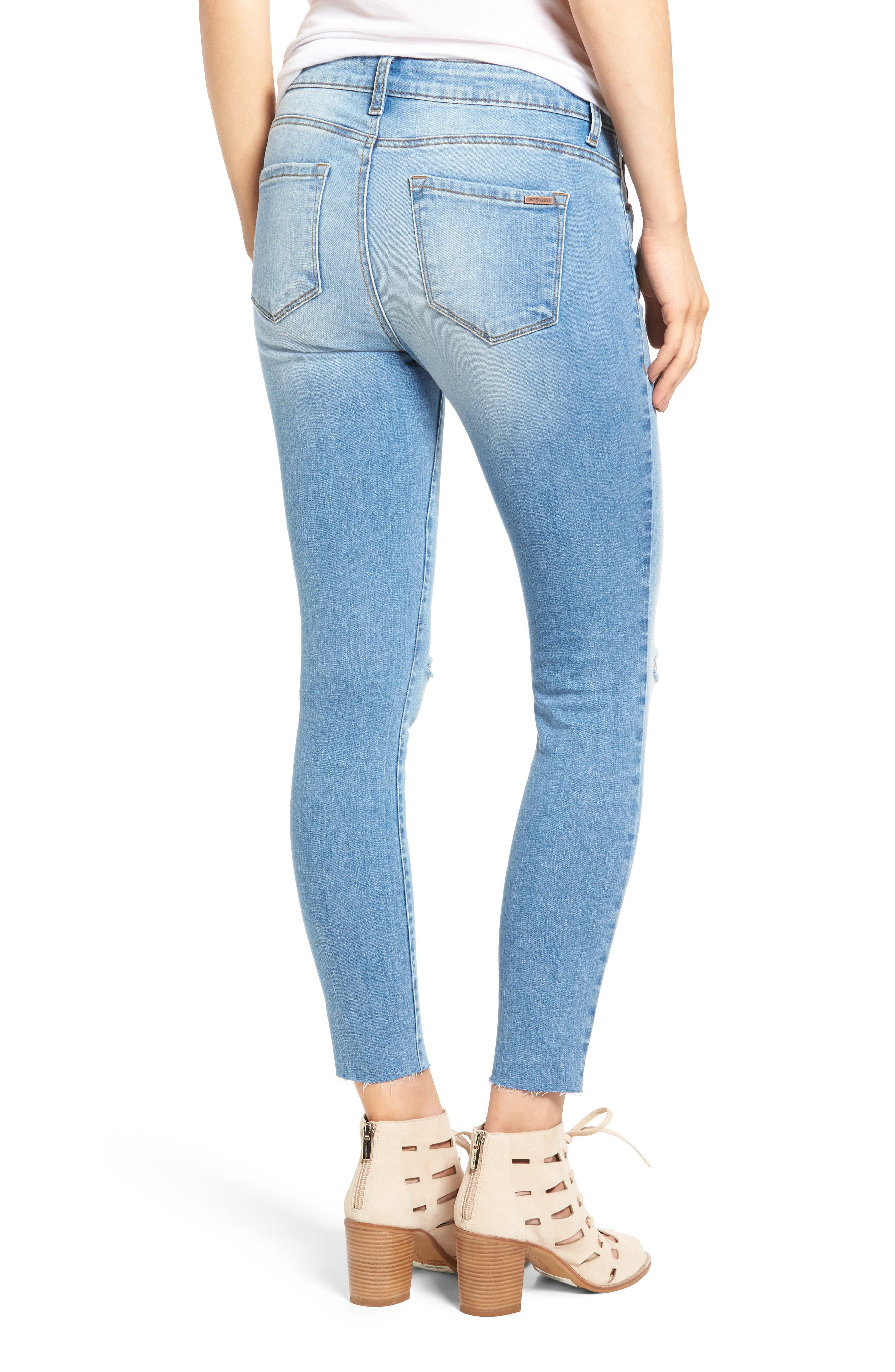 Alternate Image 2  - STS Blue Emma Ripped Crop Skinny Jeans (Mount Tallac)
