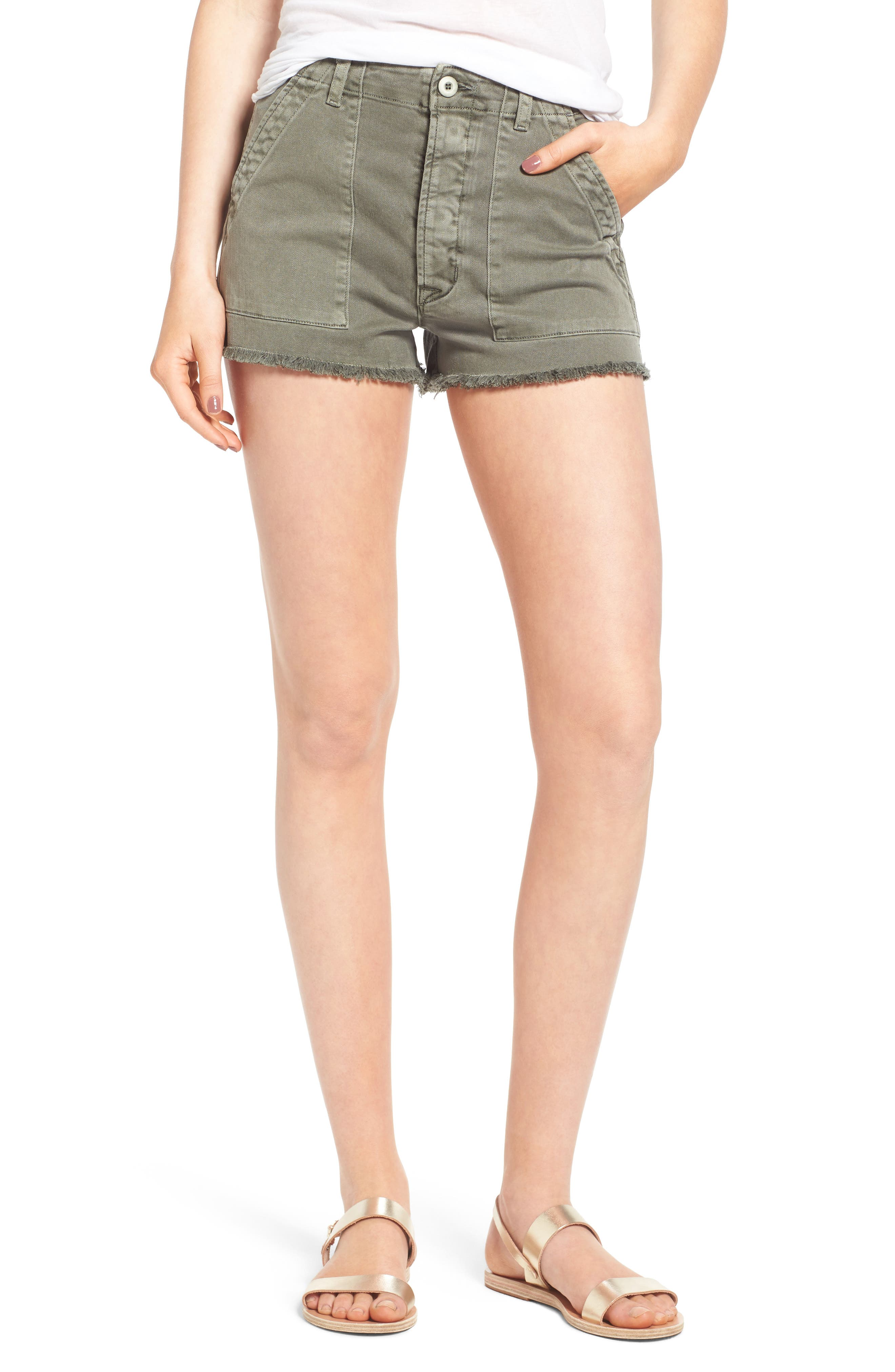 Alternate Image 1 Selected - Hudson Jeans MKA Military High Waist Shorts