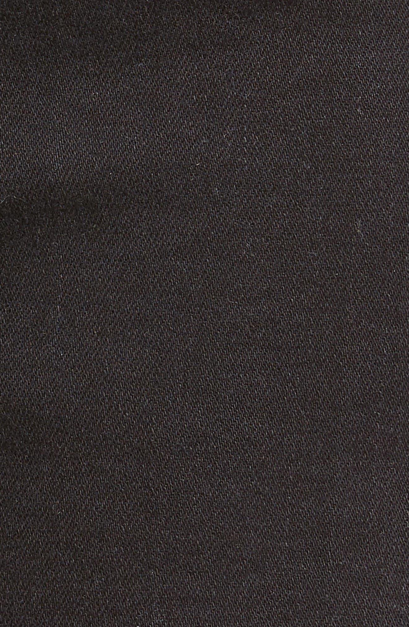 Alternate Image 5  - PAIGE Margot High Waist Cutoff Denim Shorts (Noir Studded Heart)