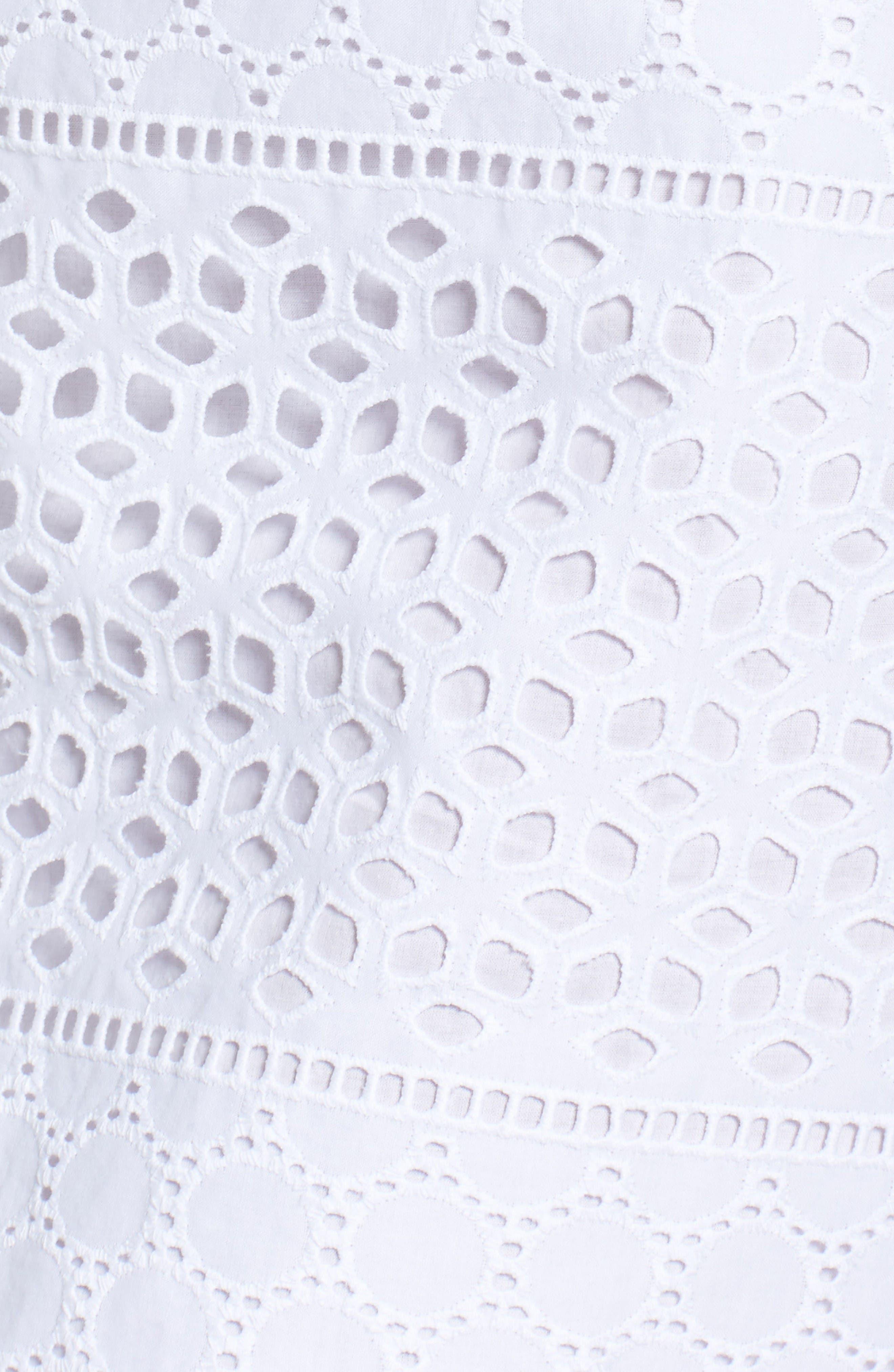 Alternate Image 6  - Vince Camuto Eyelet A-Line Dress (Regular & Petite)