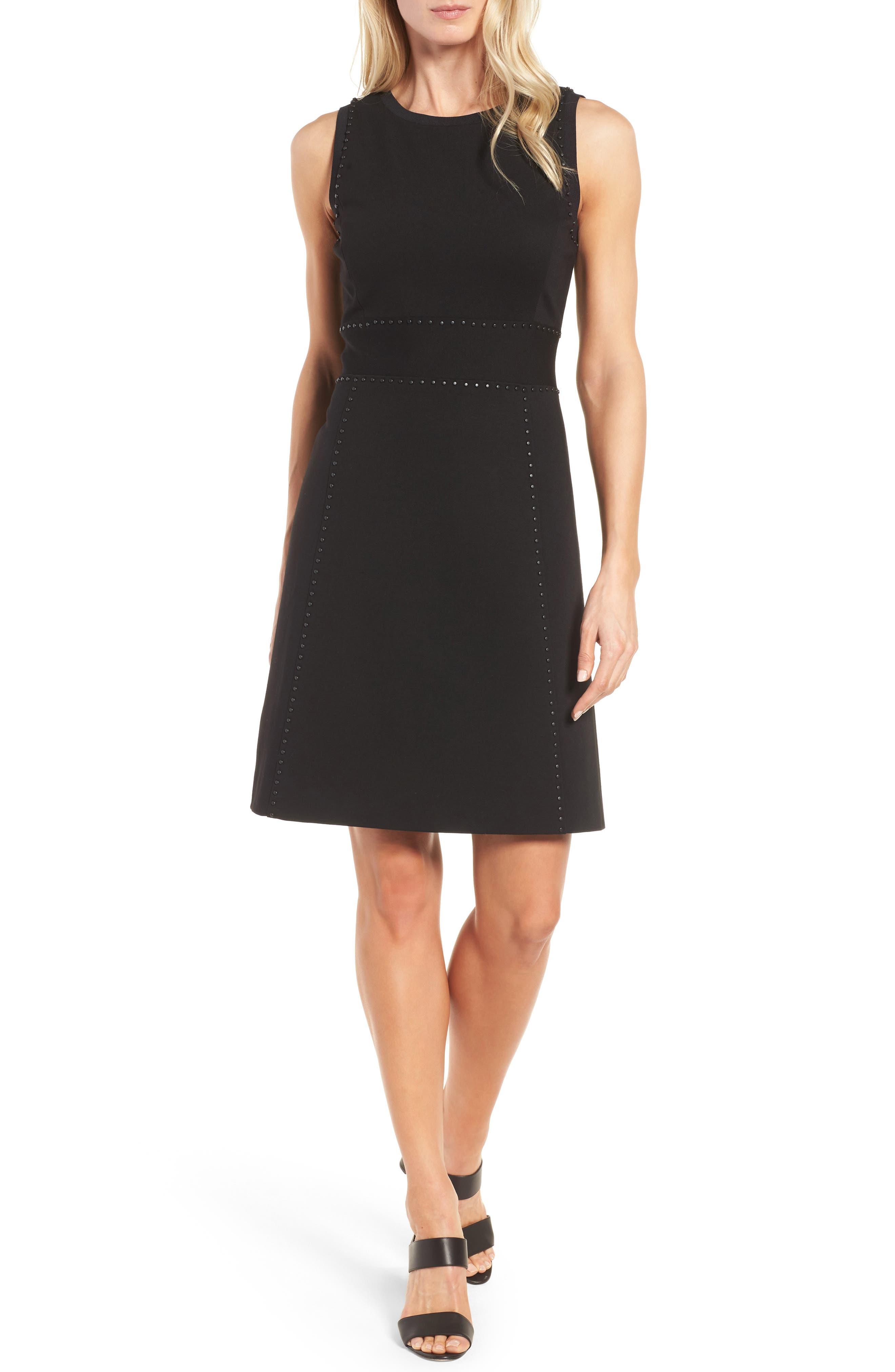 Classiques Entier® Studded Jacquard A-Line Dress