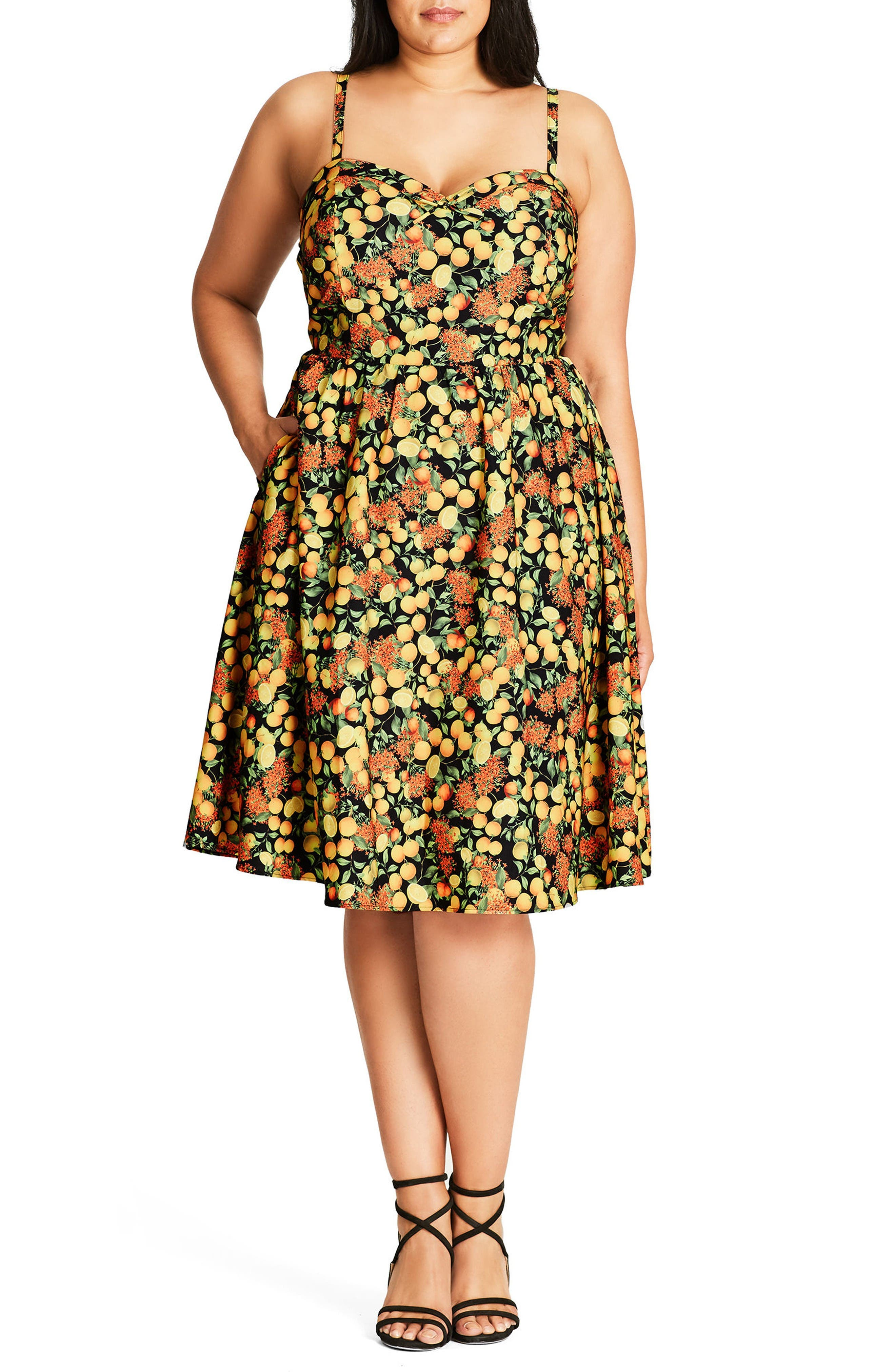 City Chic Zesty Fun Sundress (Plus Size)