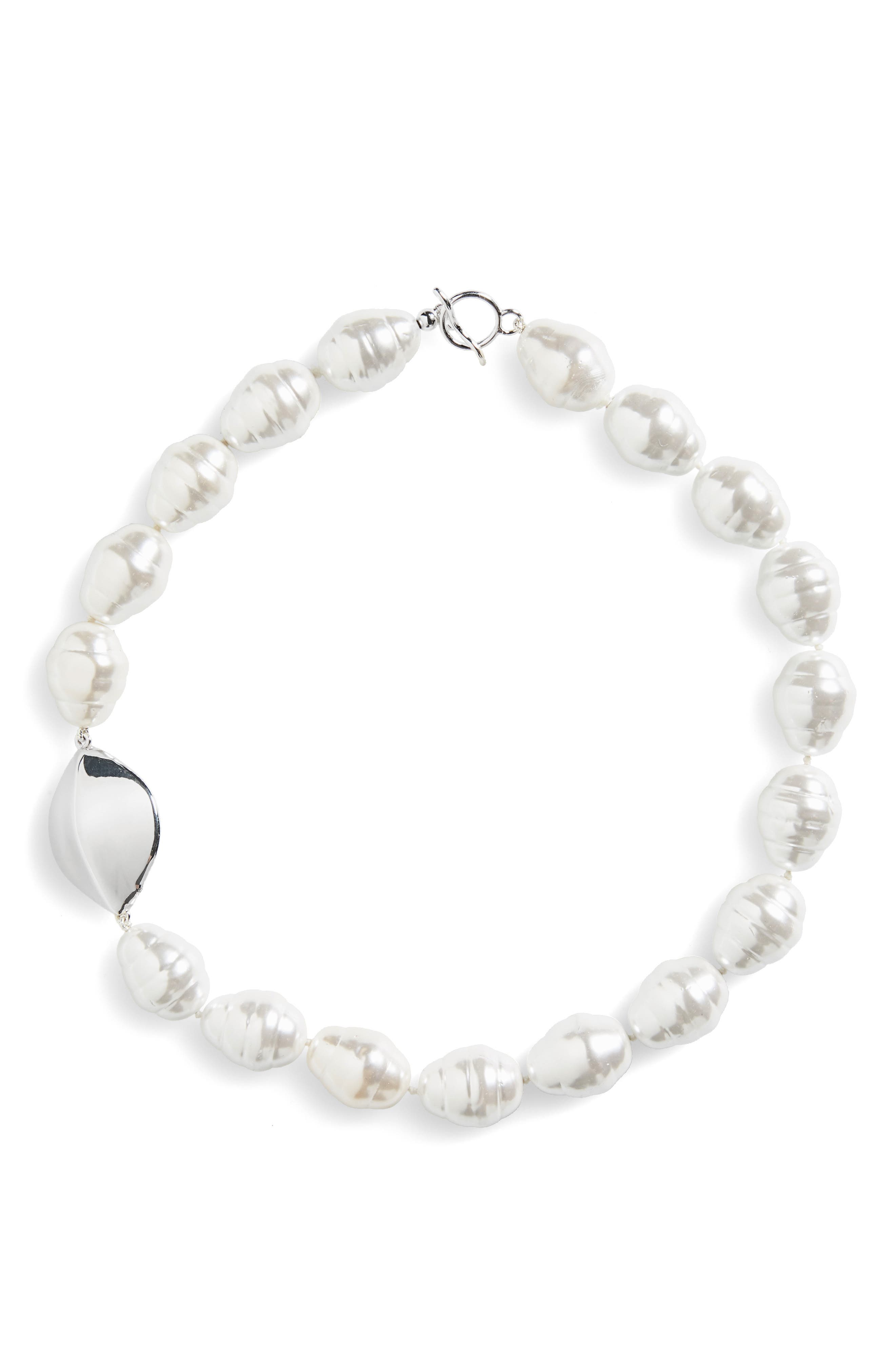 Simon Sebbag Baroque Imitation Pearl Necklace
