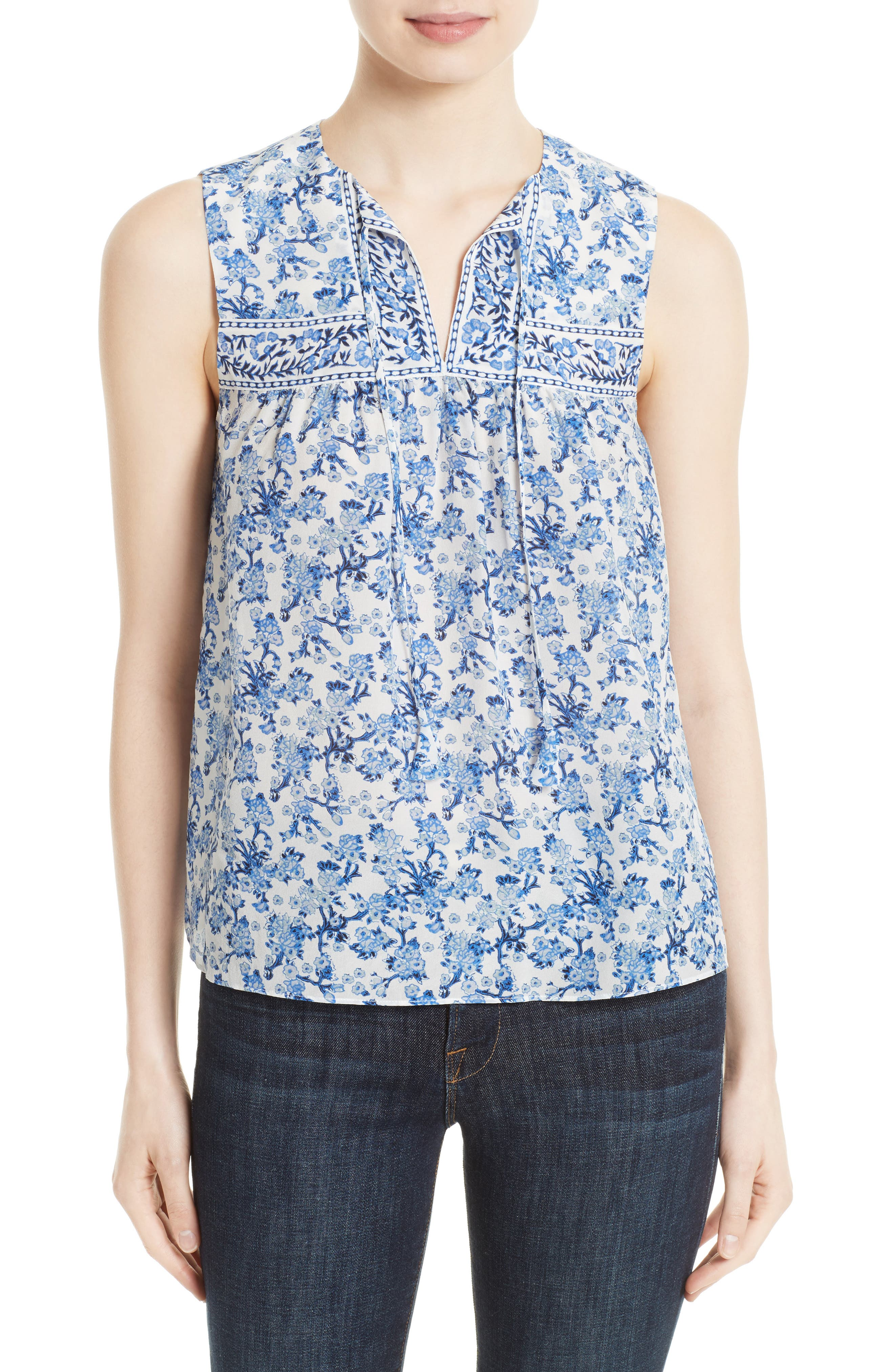 Rebecca Taylor Floral Silk Top