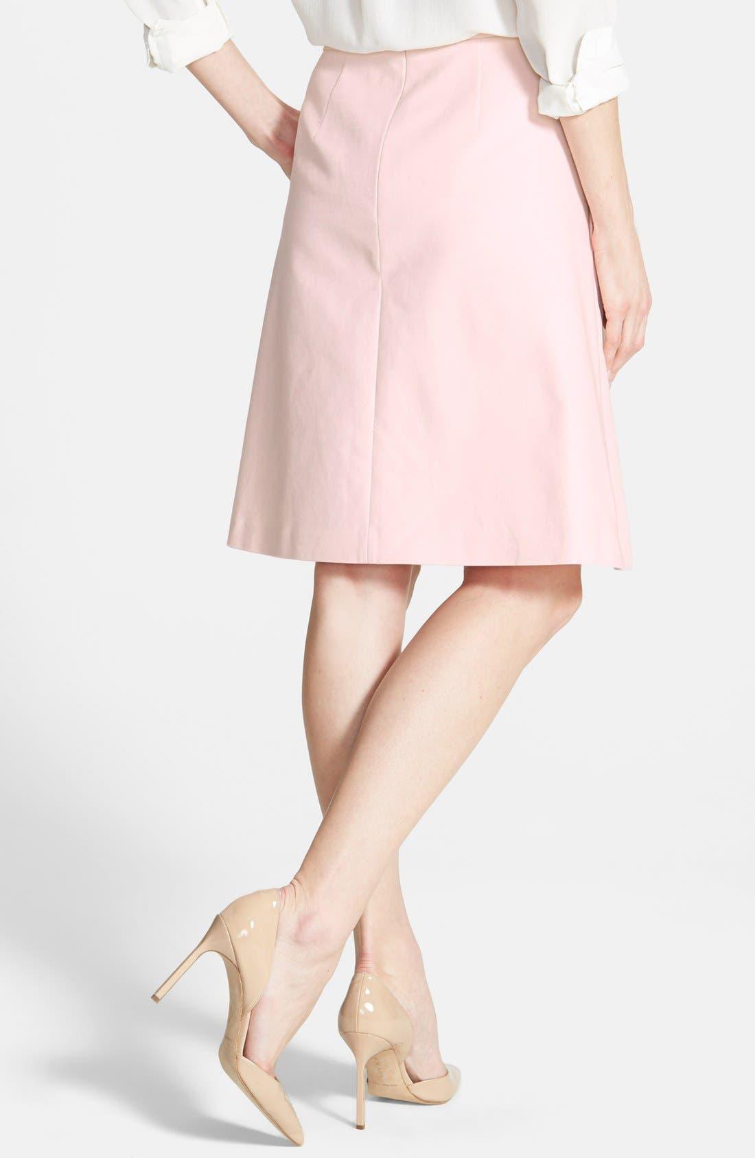 Alternate Image 2  - Vince Camuto Pleat Front A-Line Skirt (Regular & Petite)
