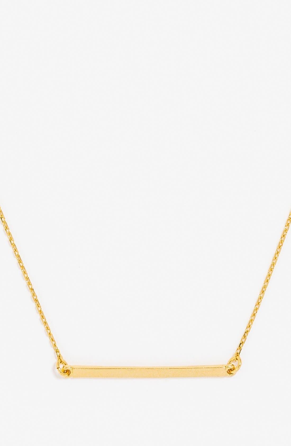 Alternate Image 2  - BaubleBar Solid Bar Pendant Necklace