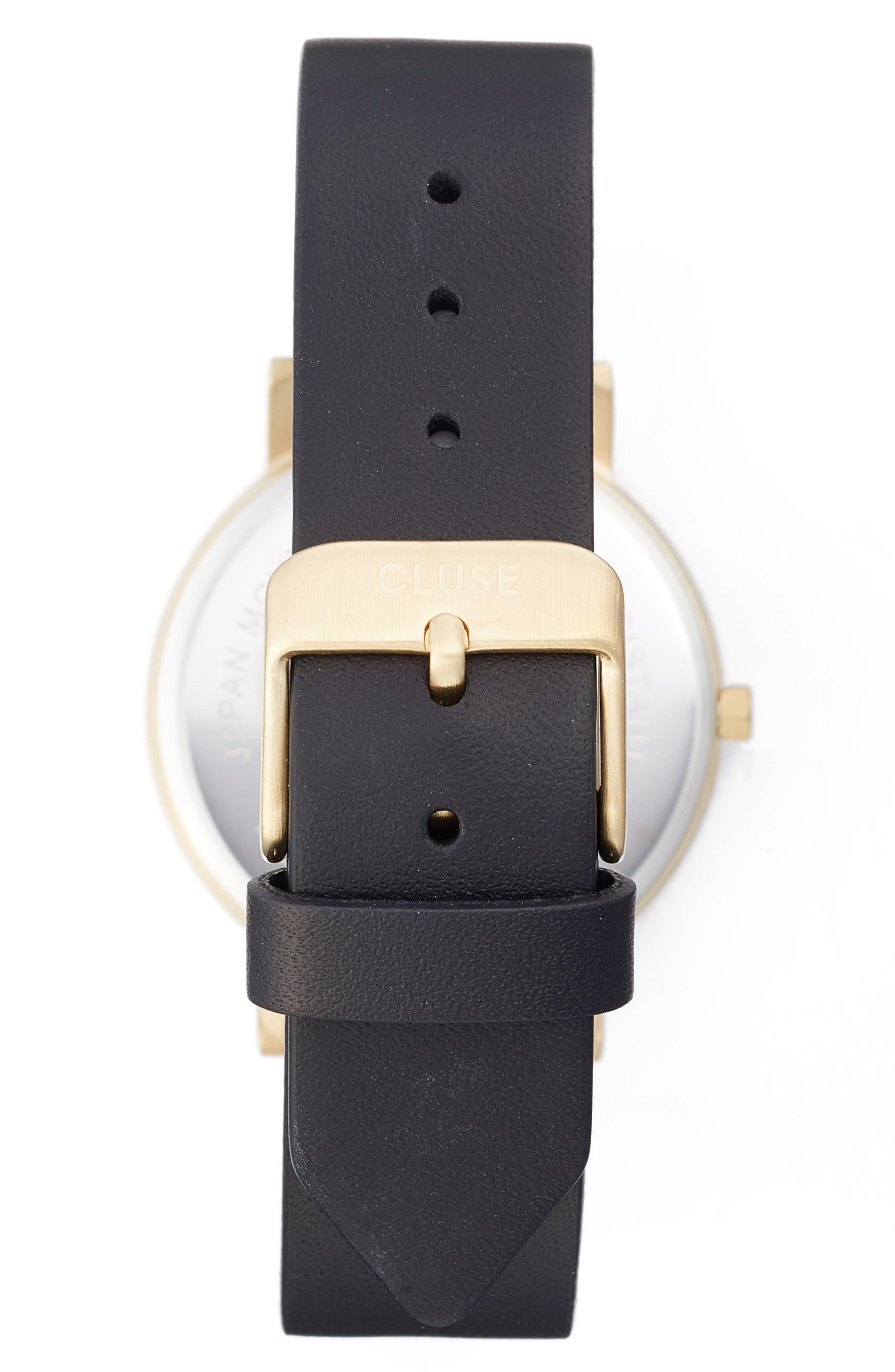 Alternate Image 2  - CLUSE 'Minuit' Leather Strap Watch, 33mm