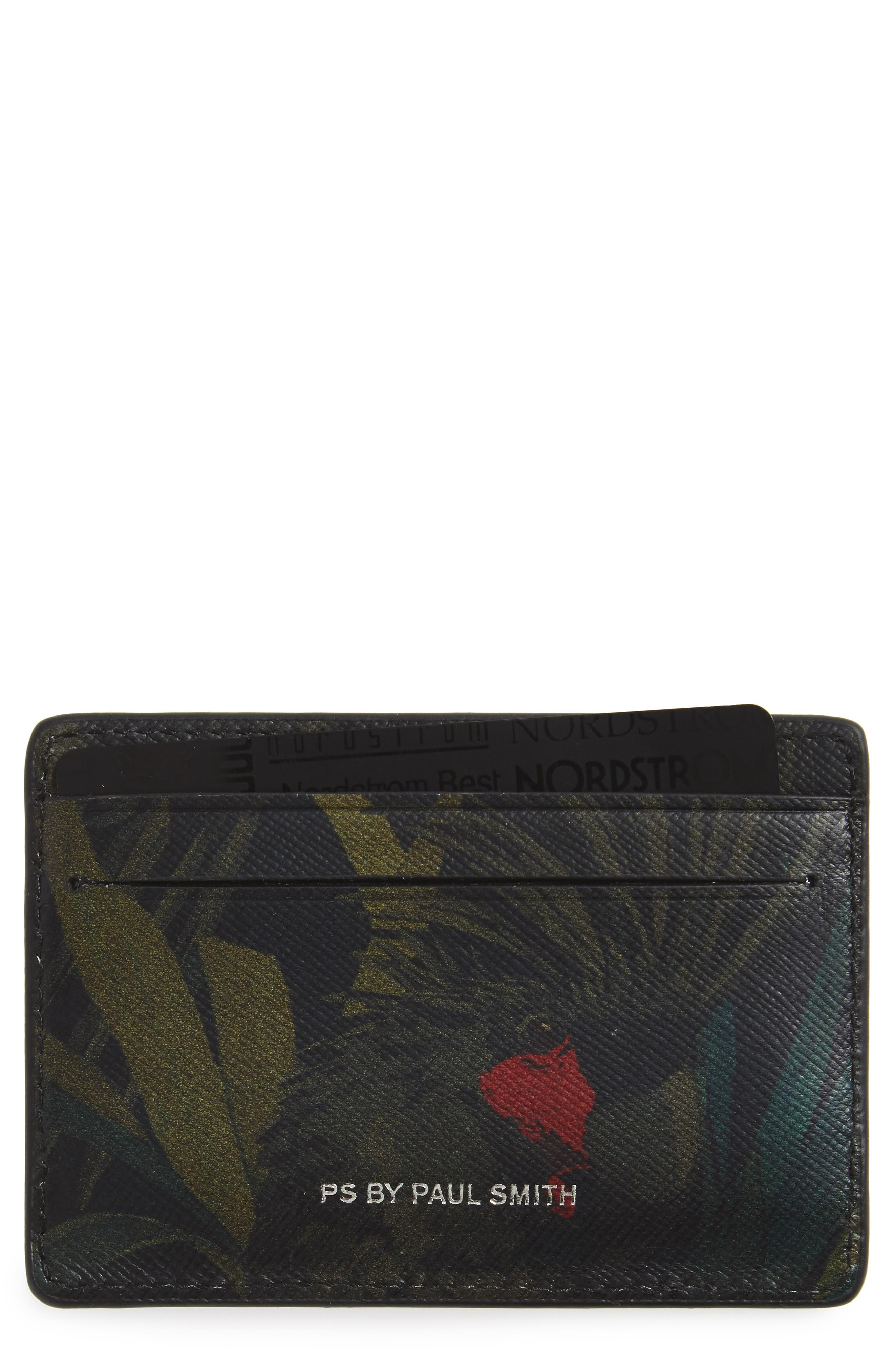 Paul Smith Cockatoo Calfskin Leather Card Case