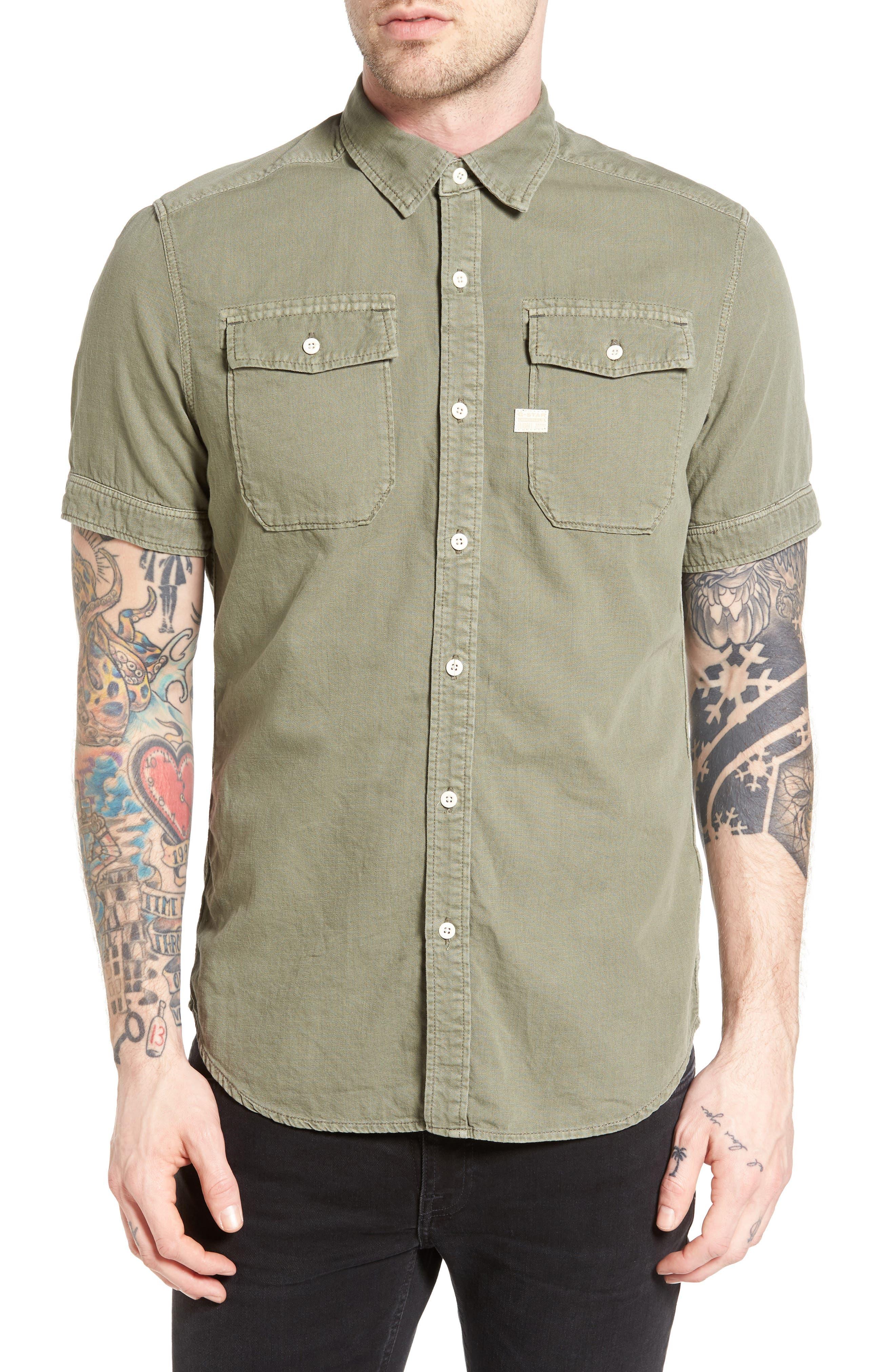 G-Star Raw Landoh Deconstructed Woven Shirt