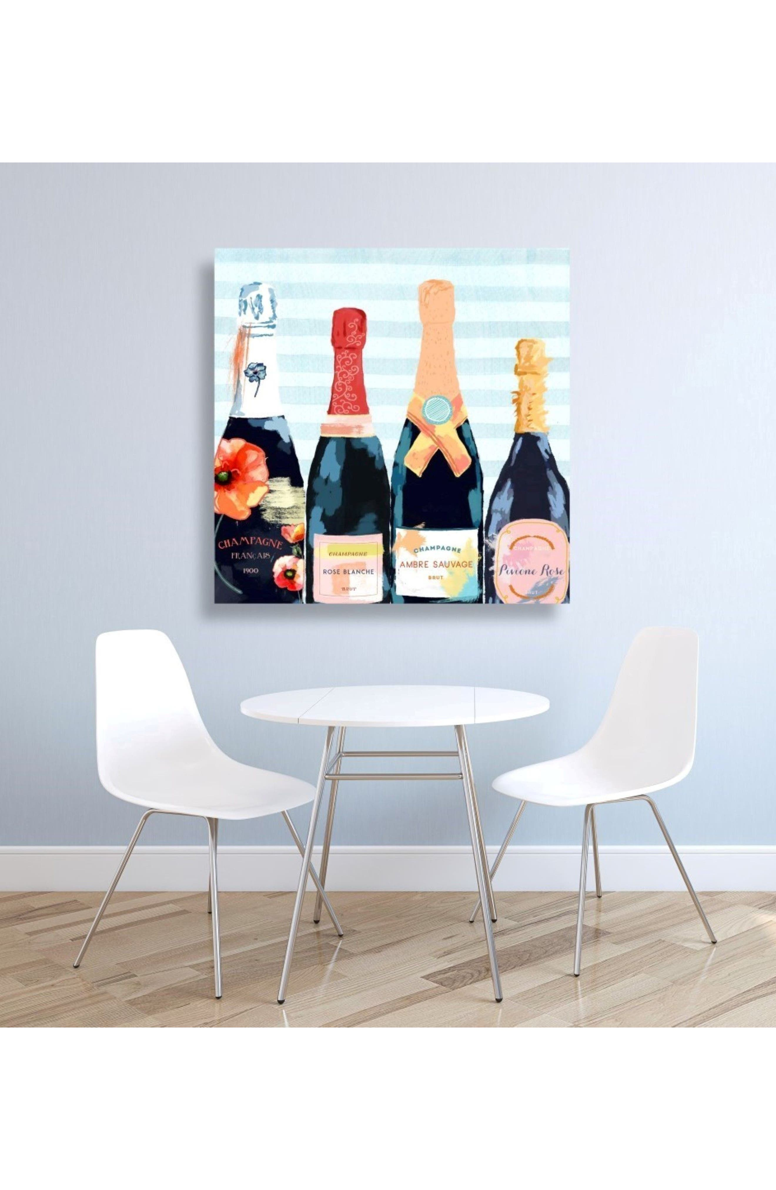 Alternate Image 2  - Oliver Gal Champagne Flower Canvas Wall Art