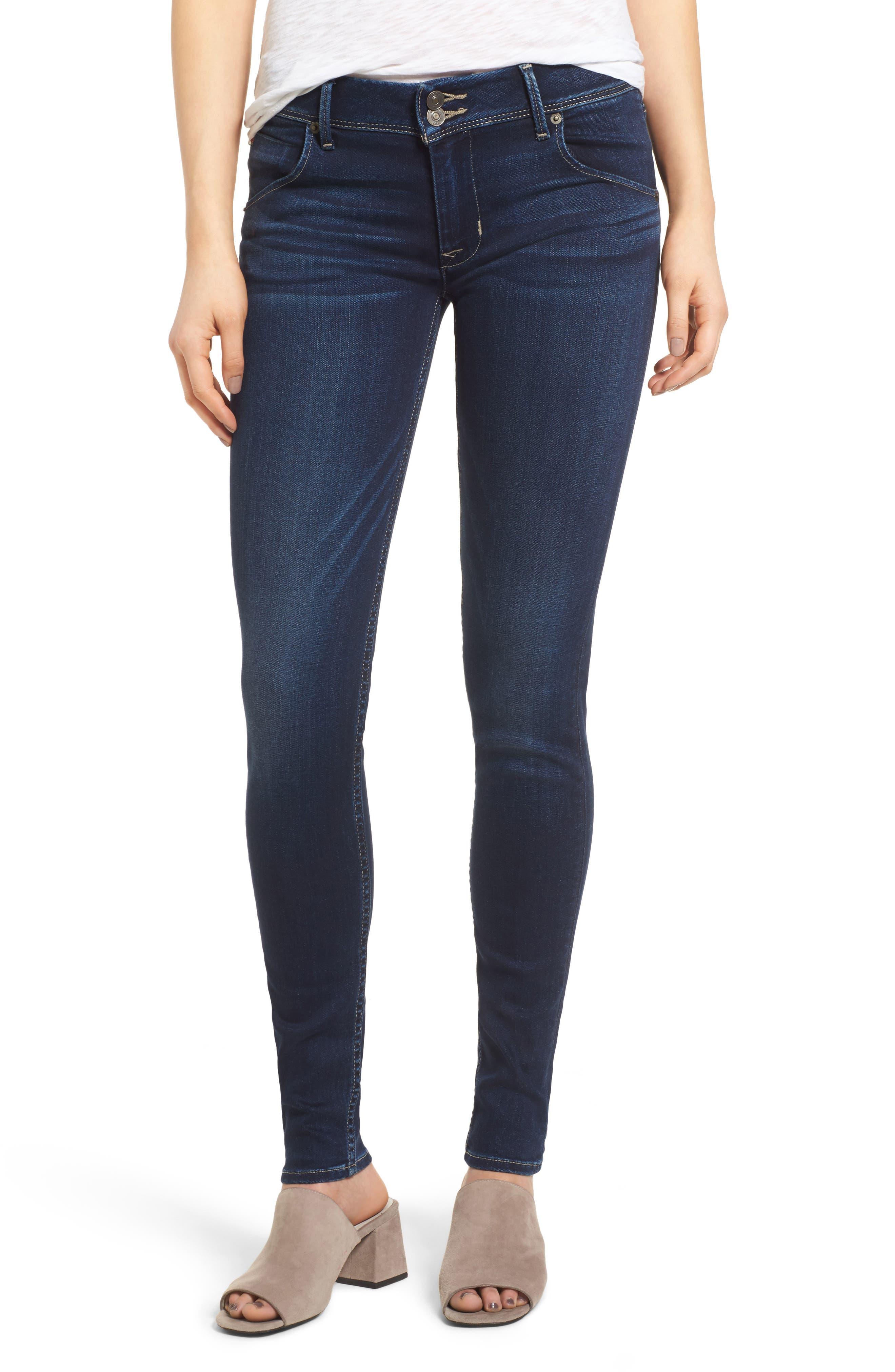 Hudson Jeans 'Collin' Supermodel Skinny Jeans (Crest Fall) (Long)
