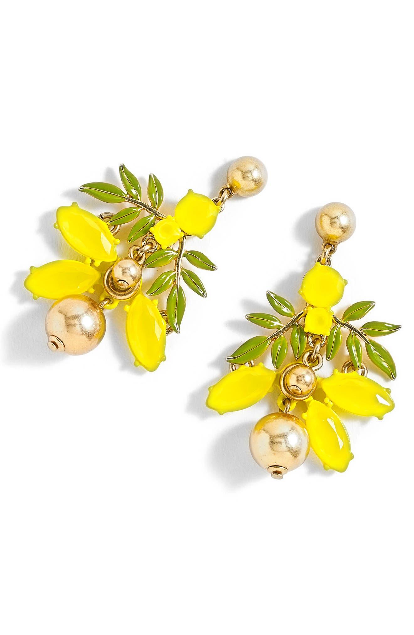 Alternate Image 1 Selected - J.Crew Lemon Tree Earrings