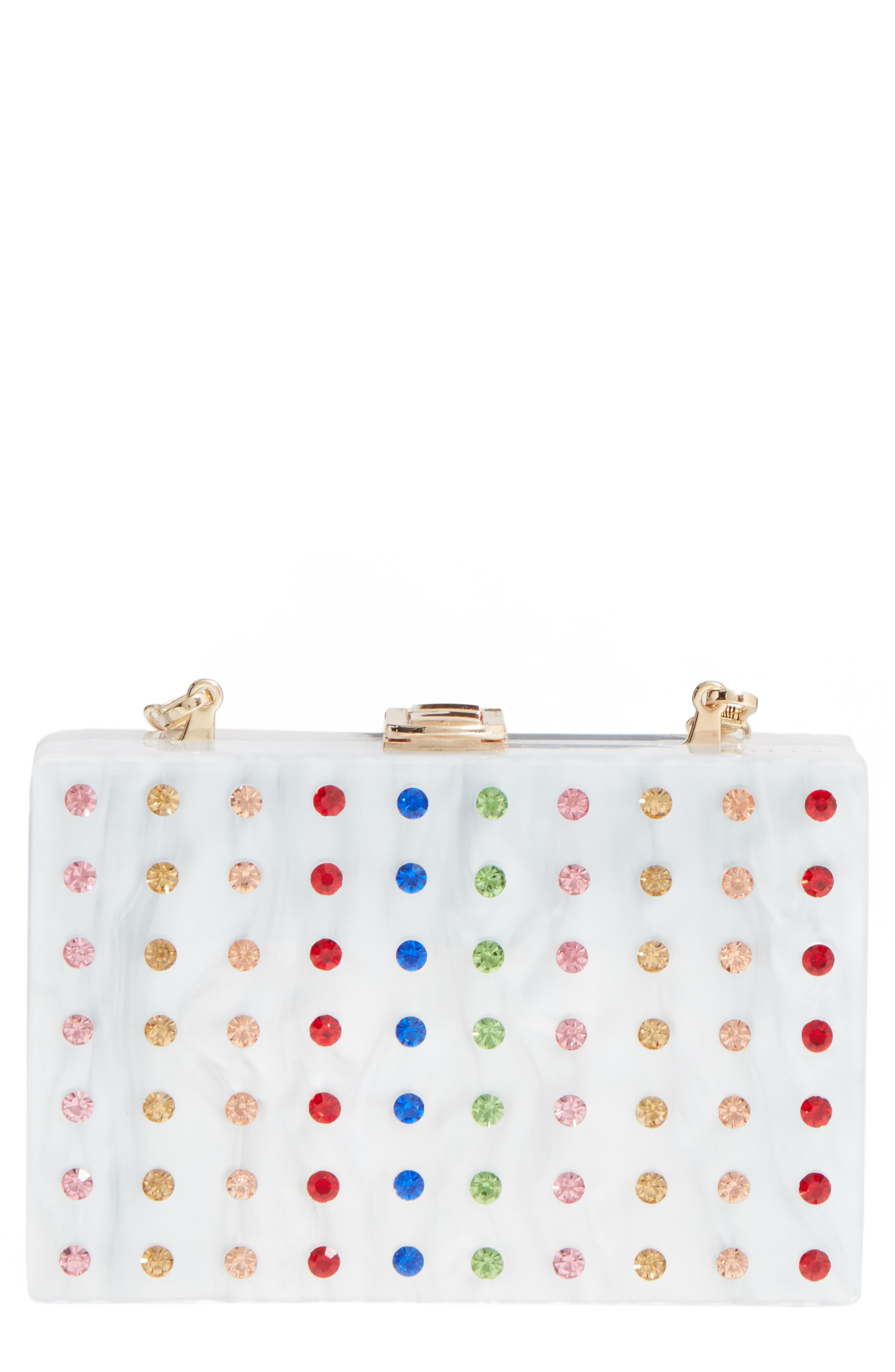 Alternate Image 1 Selected - Milly Rhinestone Box Clutch