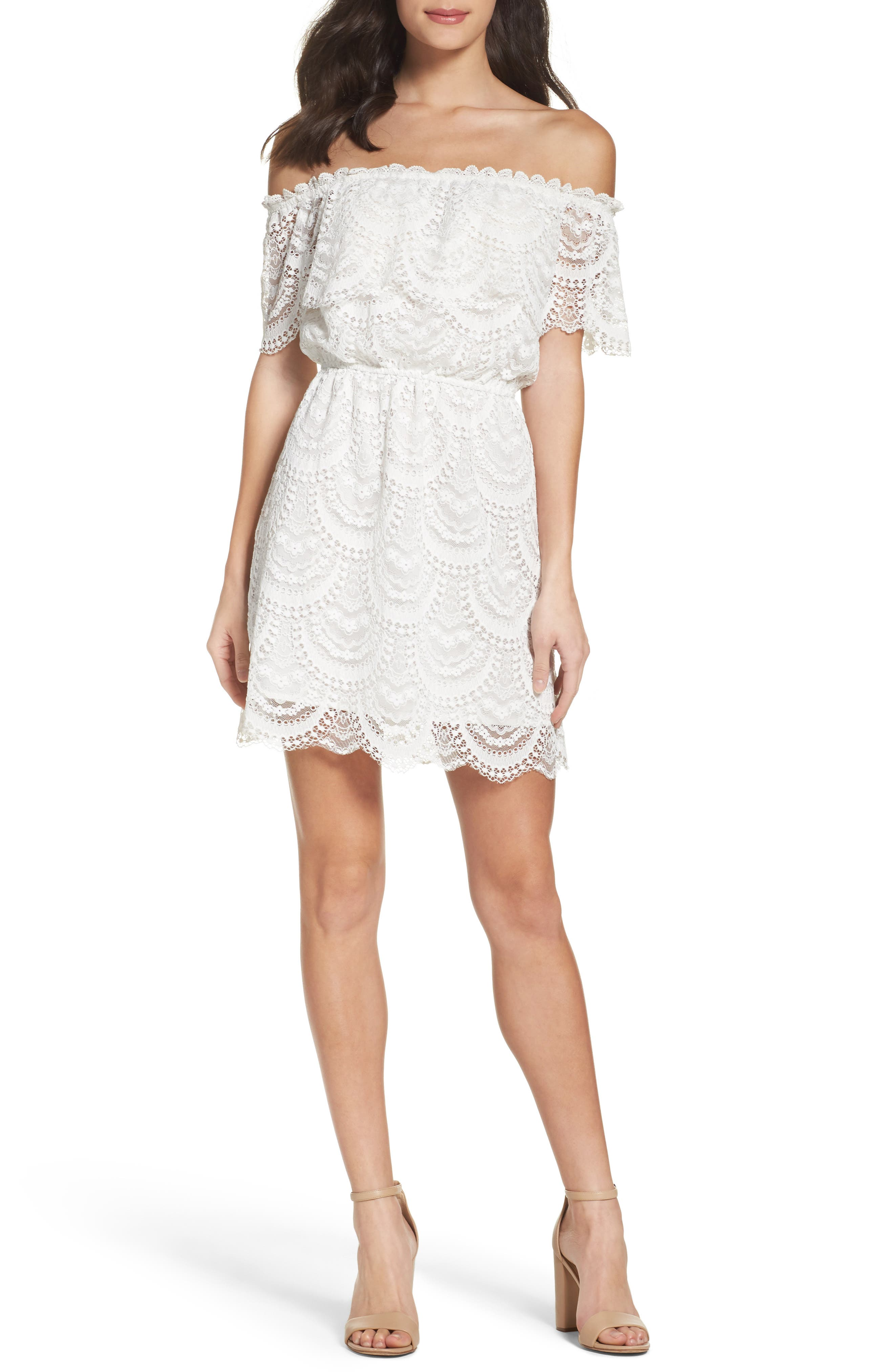 BB Dakota Hope Off the Shoulder Lace Dress