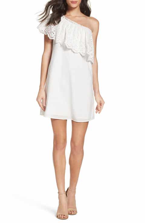 Chelsea28 Eyelet One-Shoulder Dress