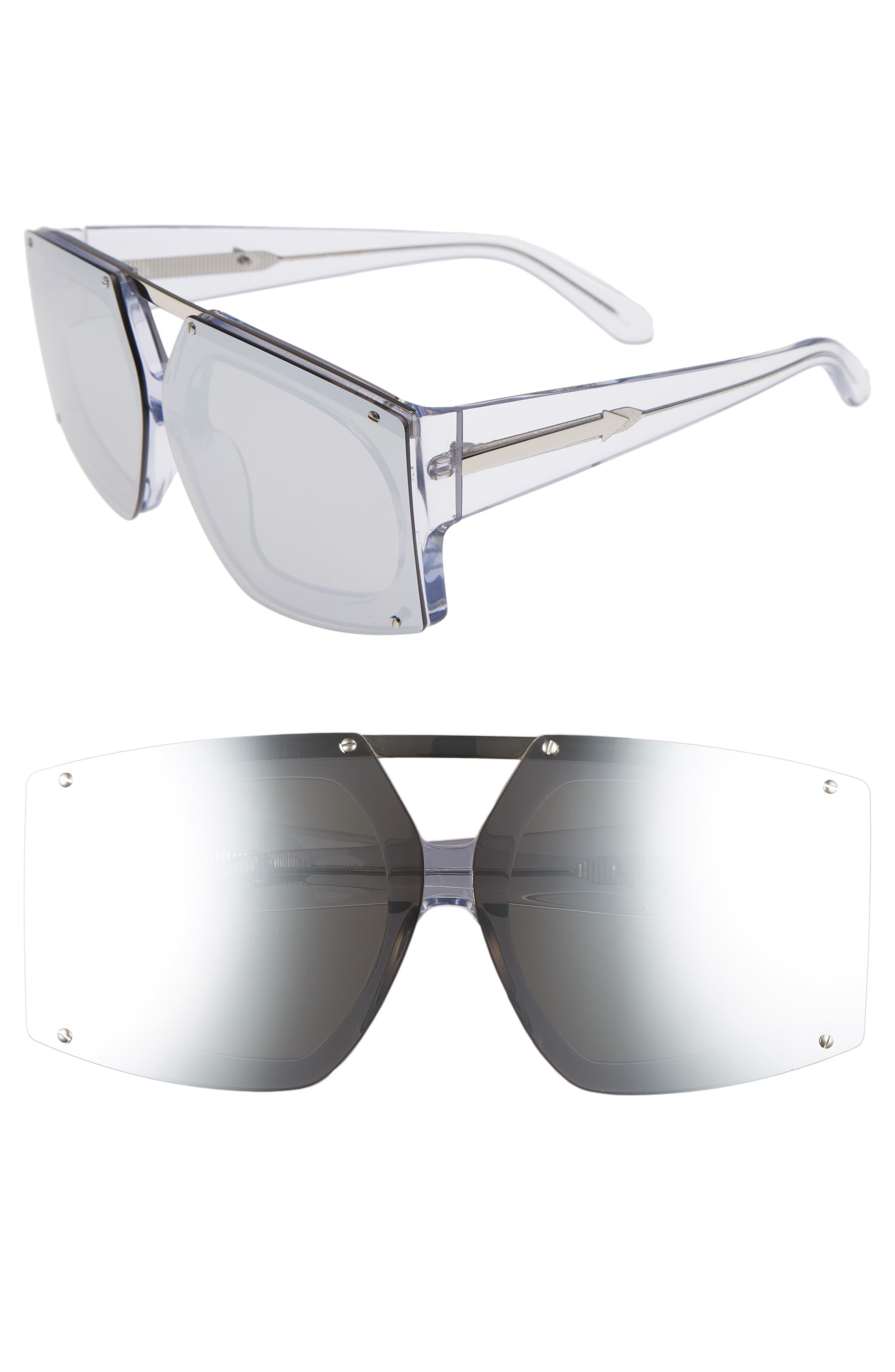 Karen Walker 70mm Mirrored Oversized Sunglasses
