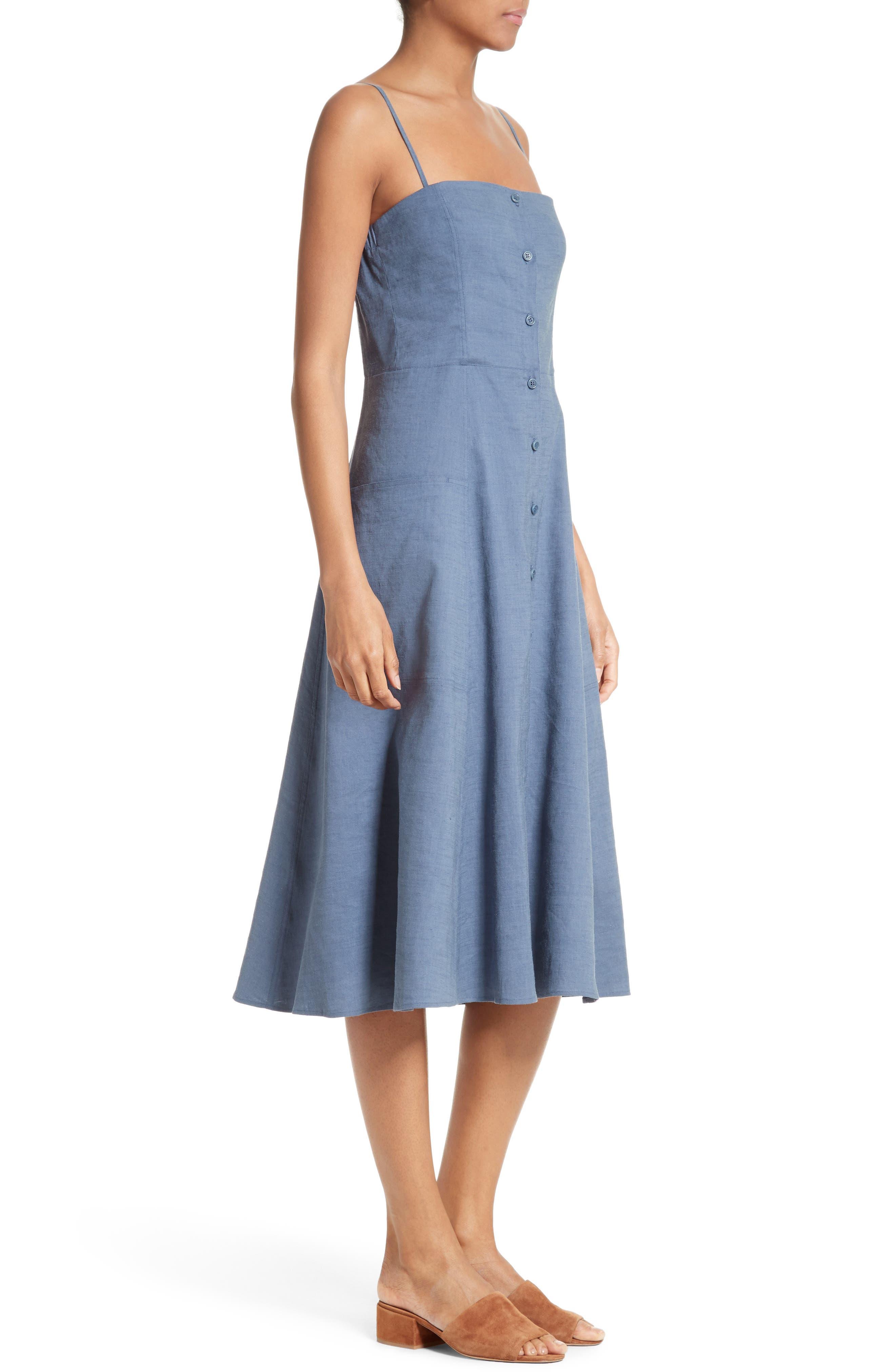 Alternate Image 3  - Theory Kayleigh Crunch Wash Chambray Midi Dress