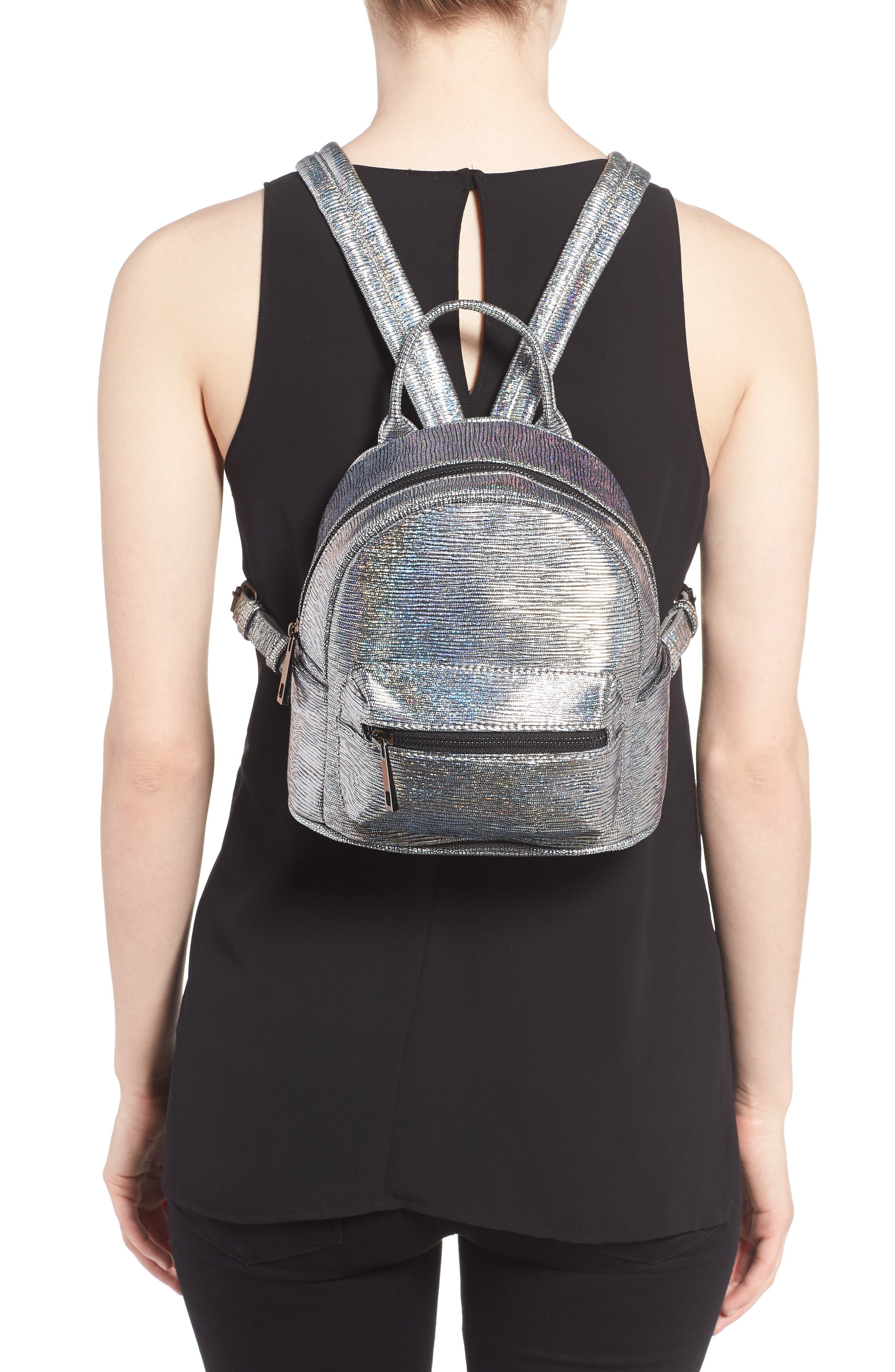 Alternate Image 2  - Street Level Faux Leather Backpack