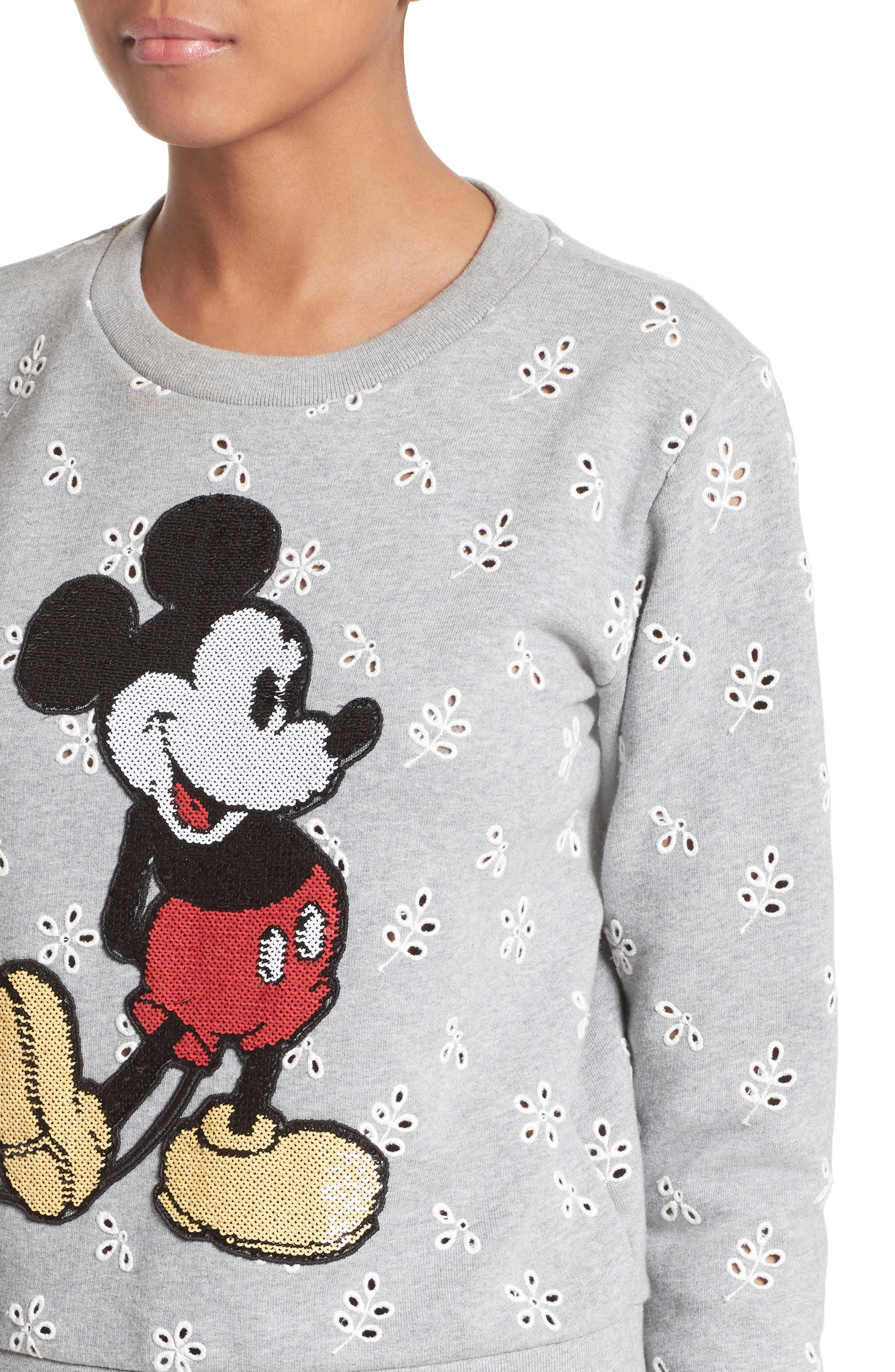 Alternate Image 6  - MARC JACOBS Embellished Mickey Shrunken Sweatshirt